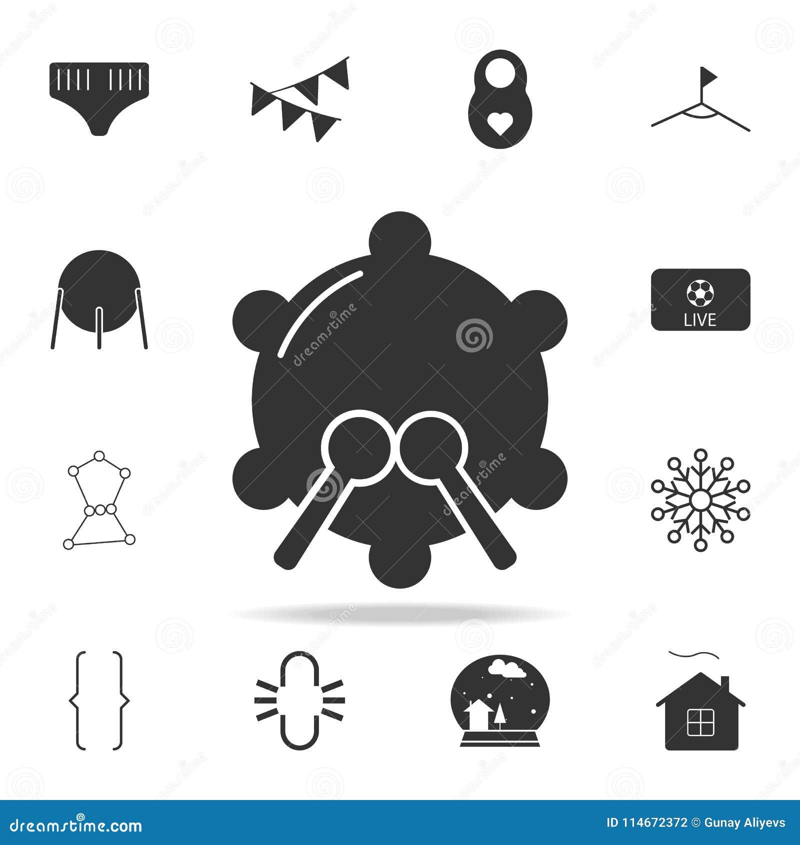 Icona del rullante Insieme dettagliato delle icone di web Progettazione grafica di qualità premio Una delle icone della raccolta