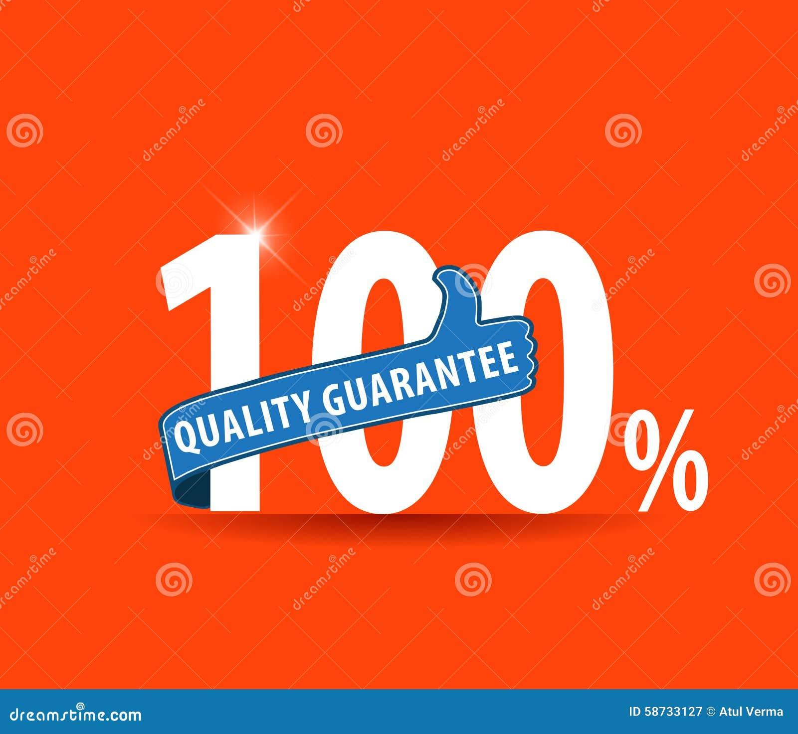 Icona 100  del segno dell etichetta di garanzia di qualità