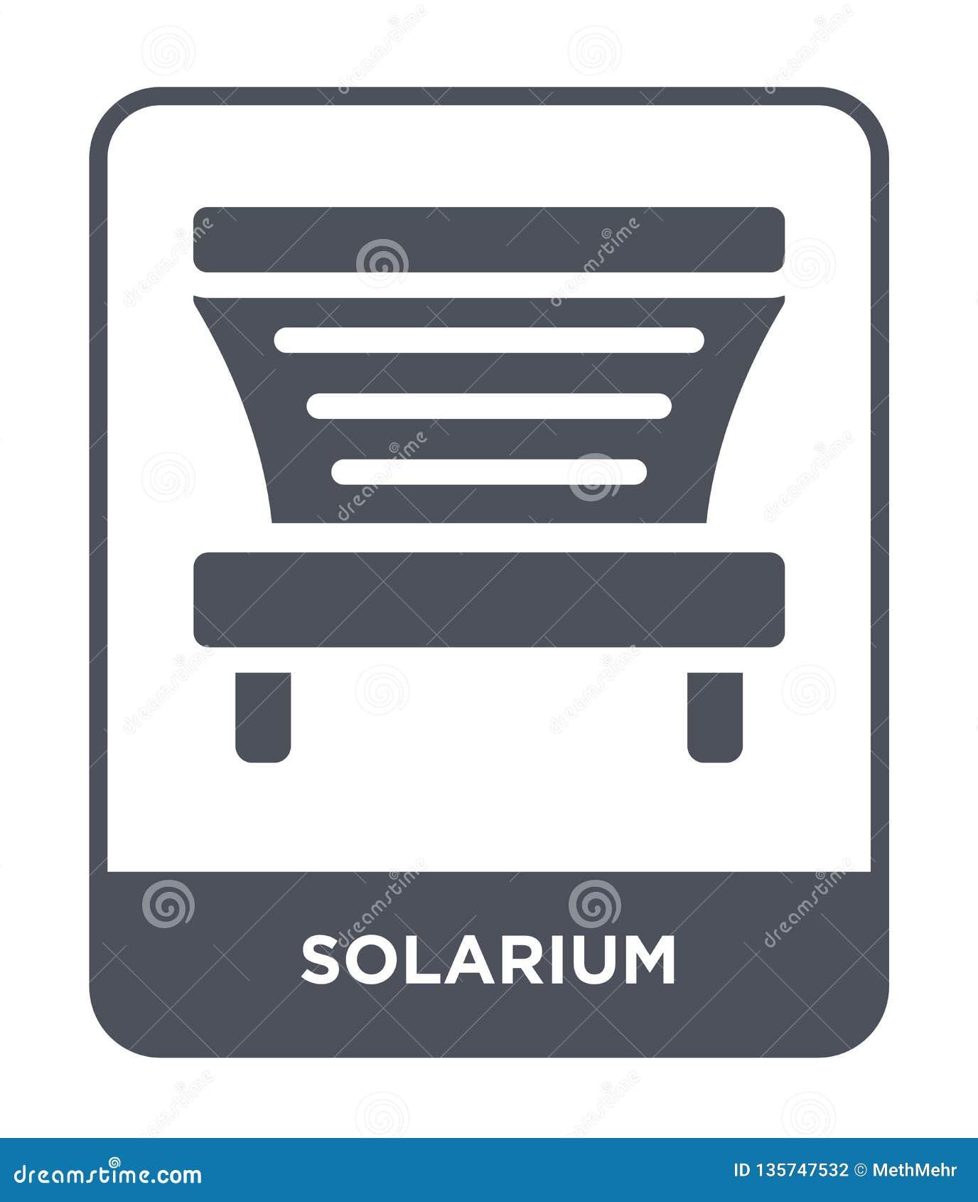 Icona del solarium nello stile d avanguardia di progettazione icona del solarium isolata su fondo bianco piano semplice e moderno