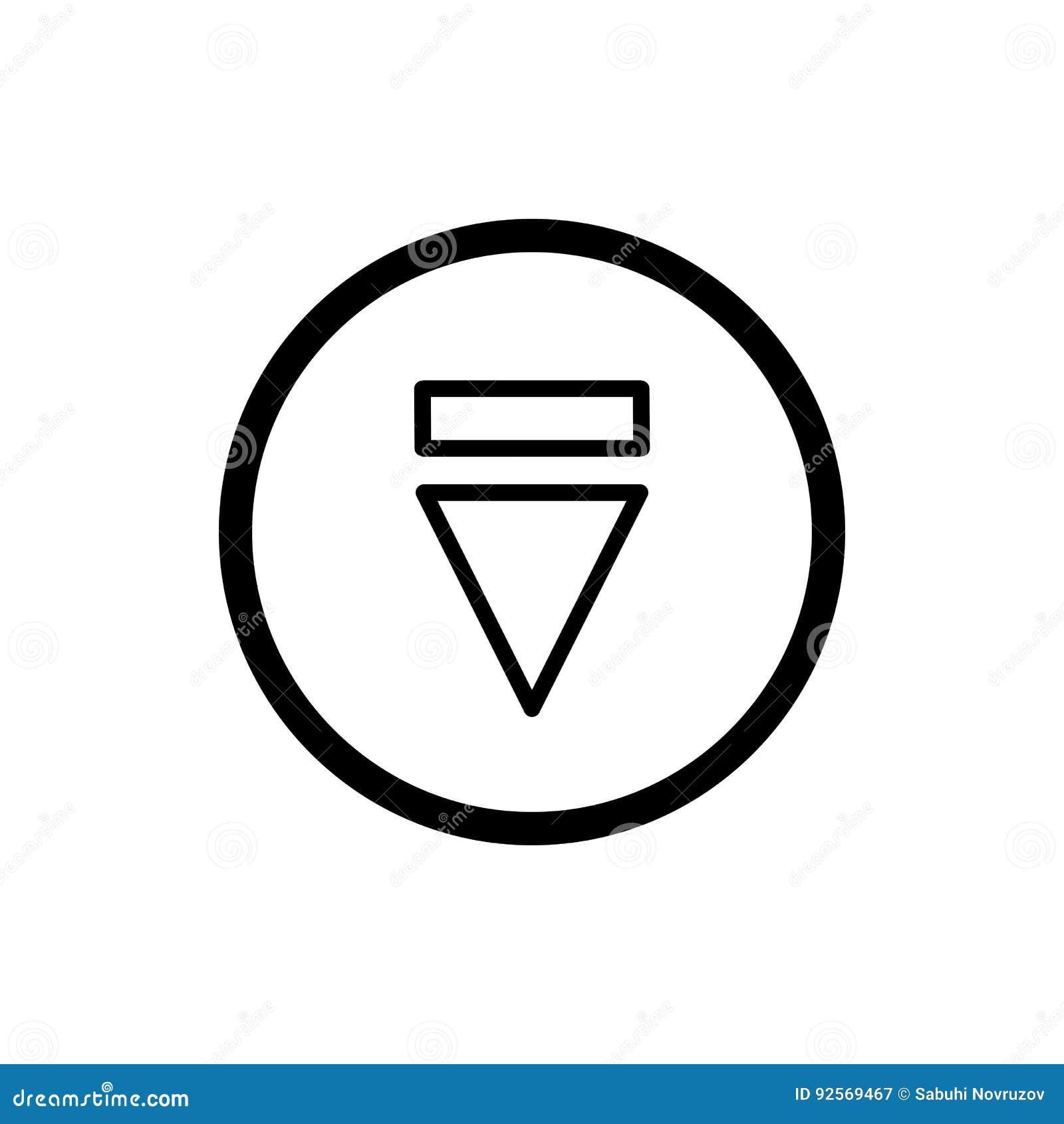 Icona del tasto di espulsione icona semplice di vettore del tasto di espulsione del profilo Su fondo bianco