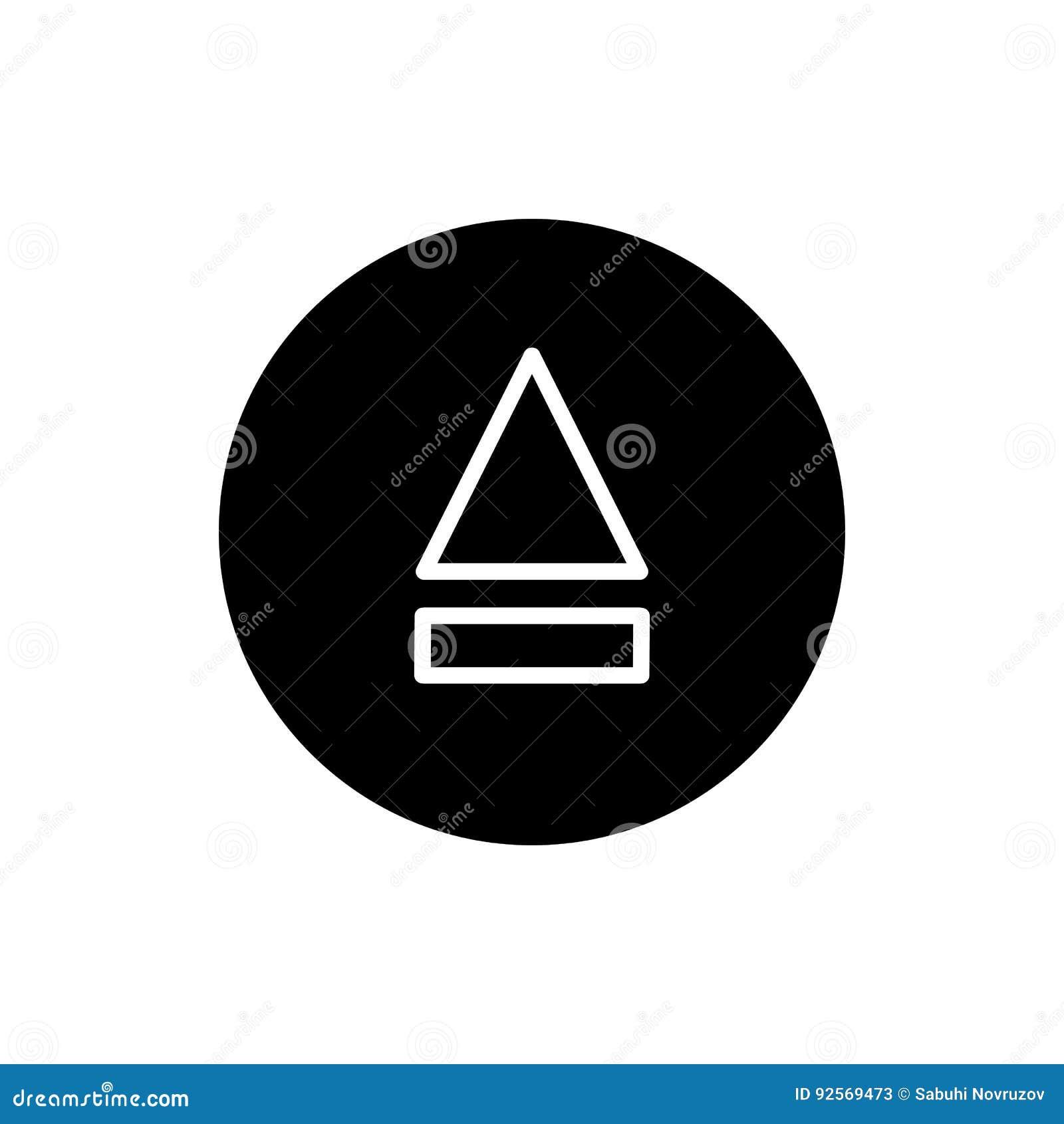 Icona del tasto di espulsione icona solida semplice di vettore del tasto di espulsione Su fondo bianco