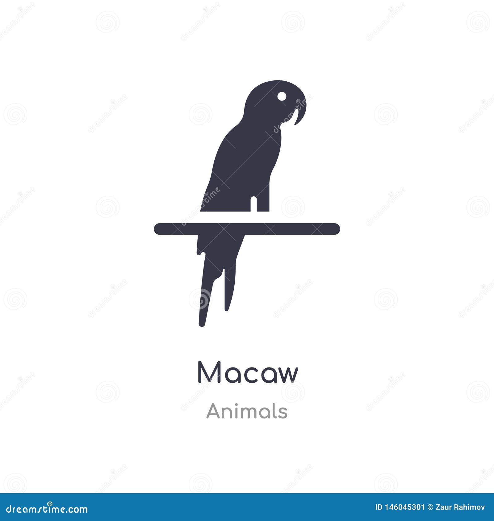 Icona dell ara illustrazione isolata di vettore dell icona dell ara dalla raccolta degli animali editabile canti il simbolo pu? e