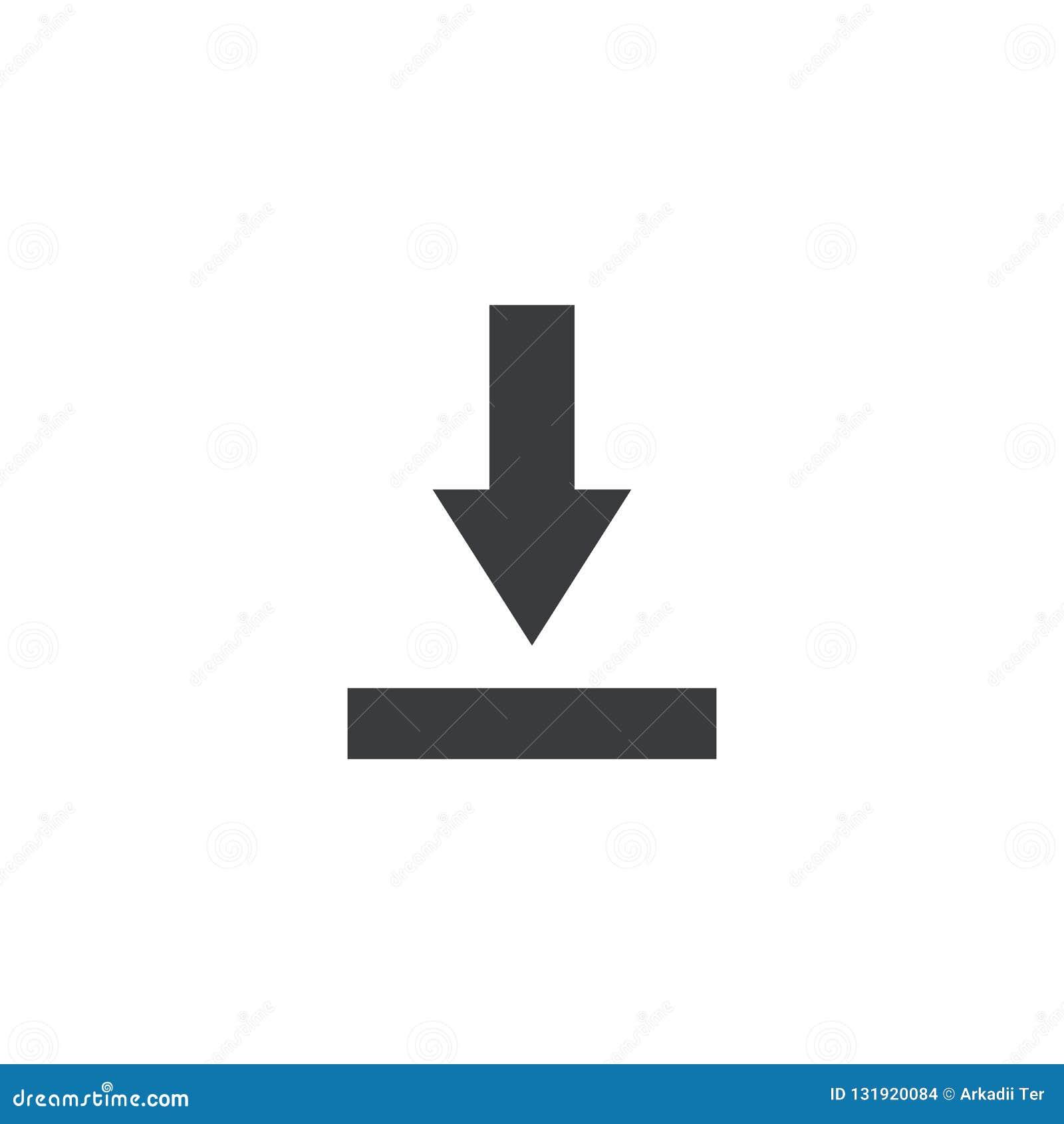 Icona dell archivio dell importazione Segno di download Simbolo di risparmio del documento Bottone dell interfaccia Elemento per