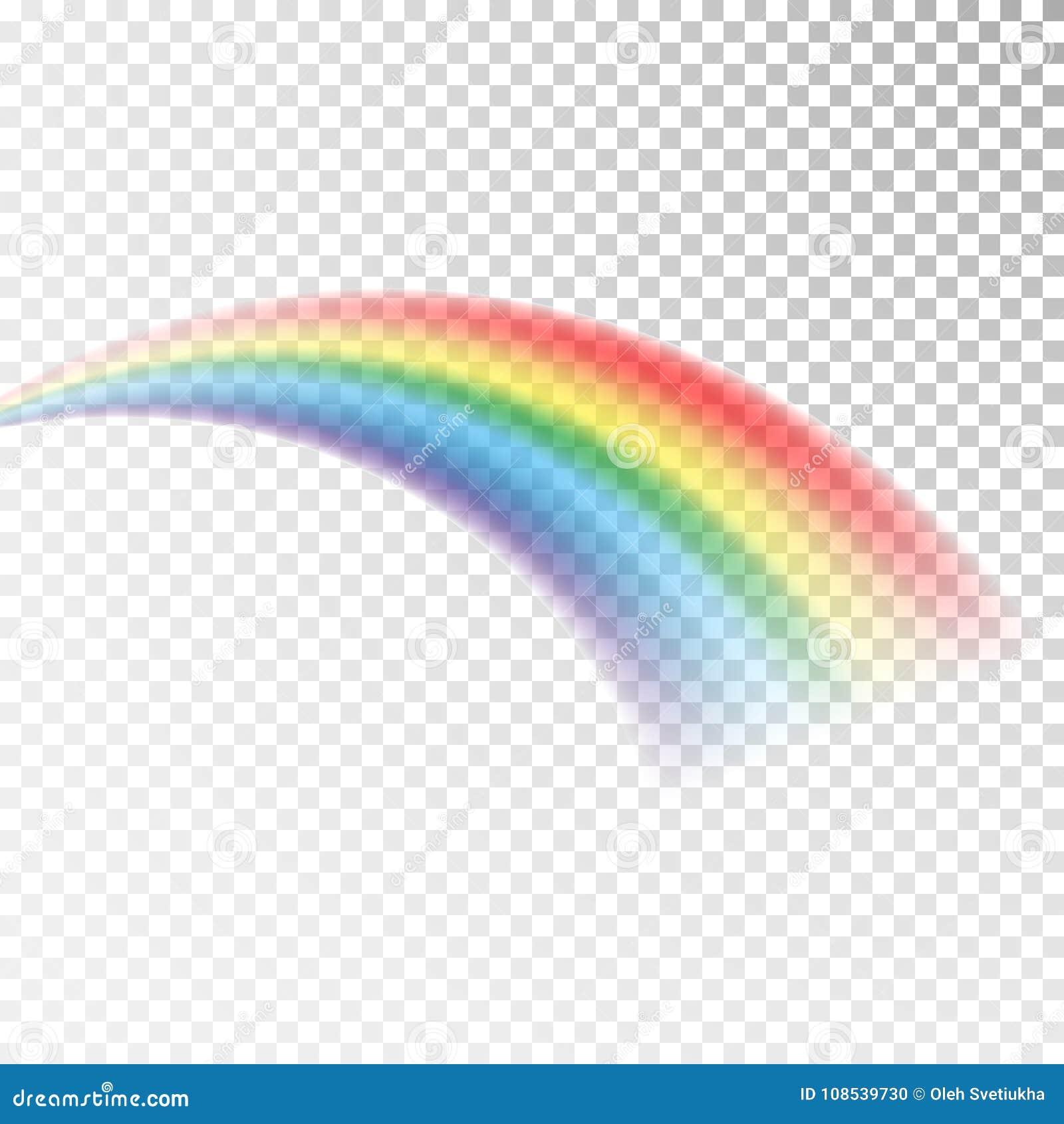 Icona dell arcobaleno Luce variopinta ed elemento luminoso di progettazione per decorativo Immagine astratta dell arcobaleno Illu