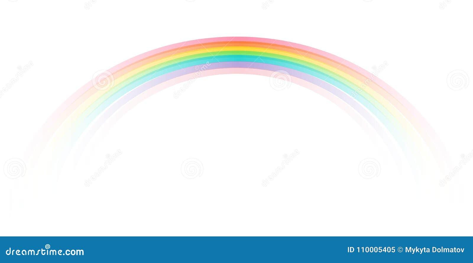 Icona dell arcobaleno realistica Icona perfetta isolata sul vettore delle azione del fondo