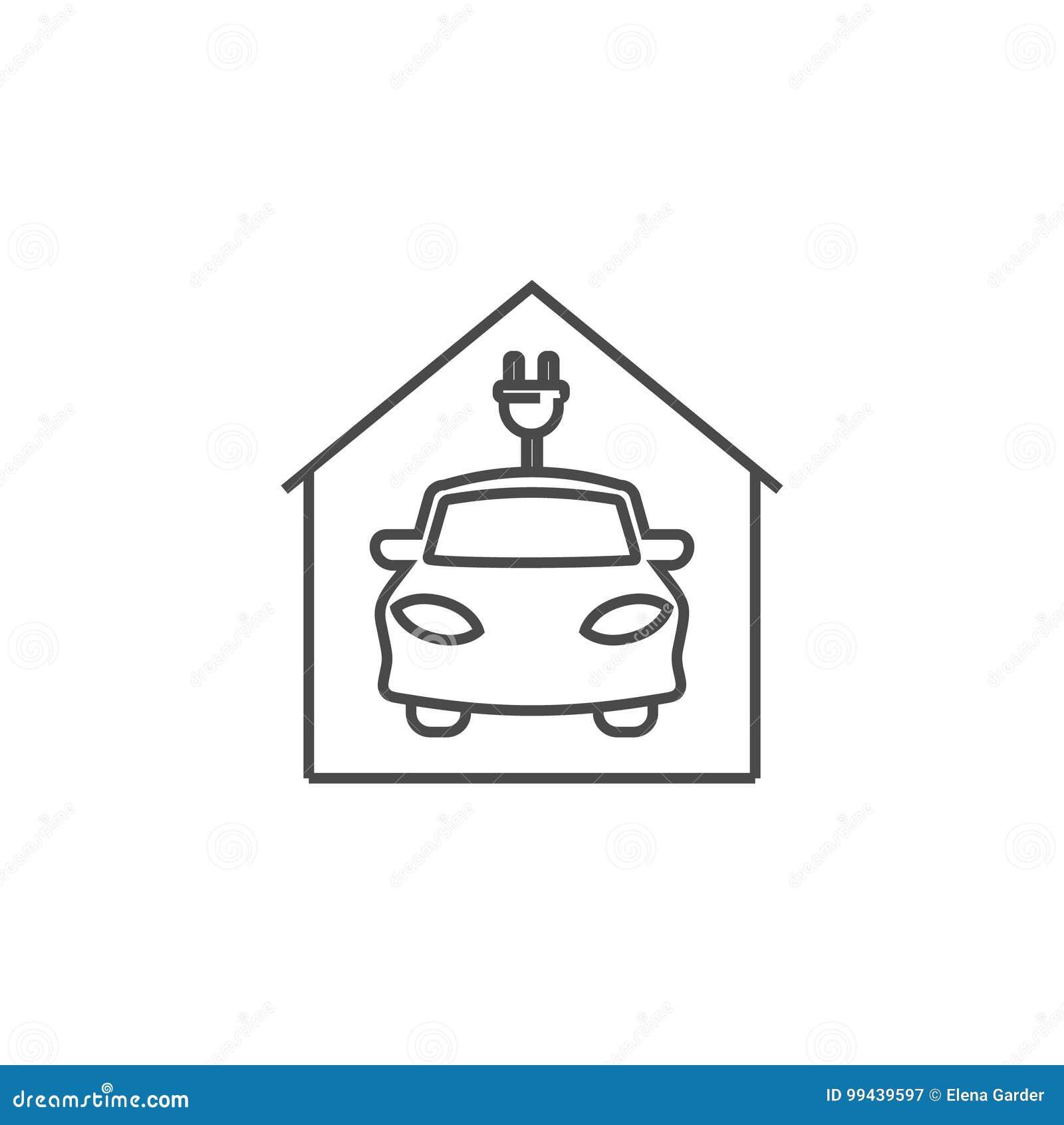 Icona dell automobile elettrica