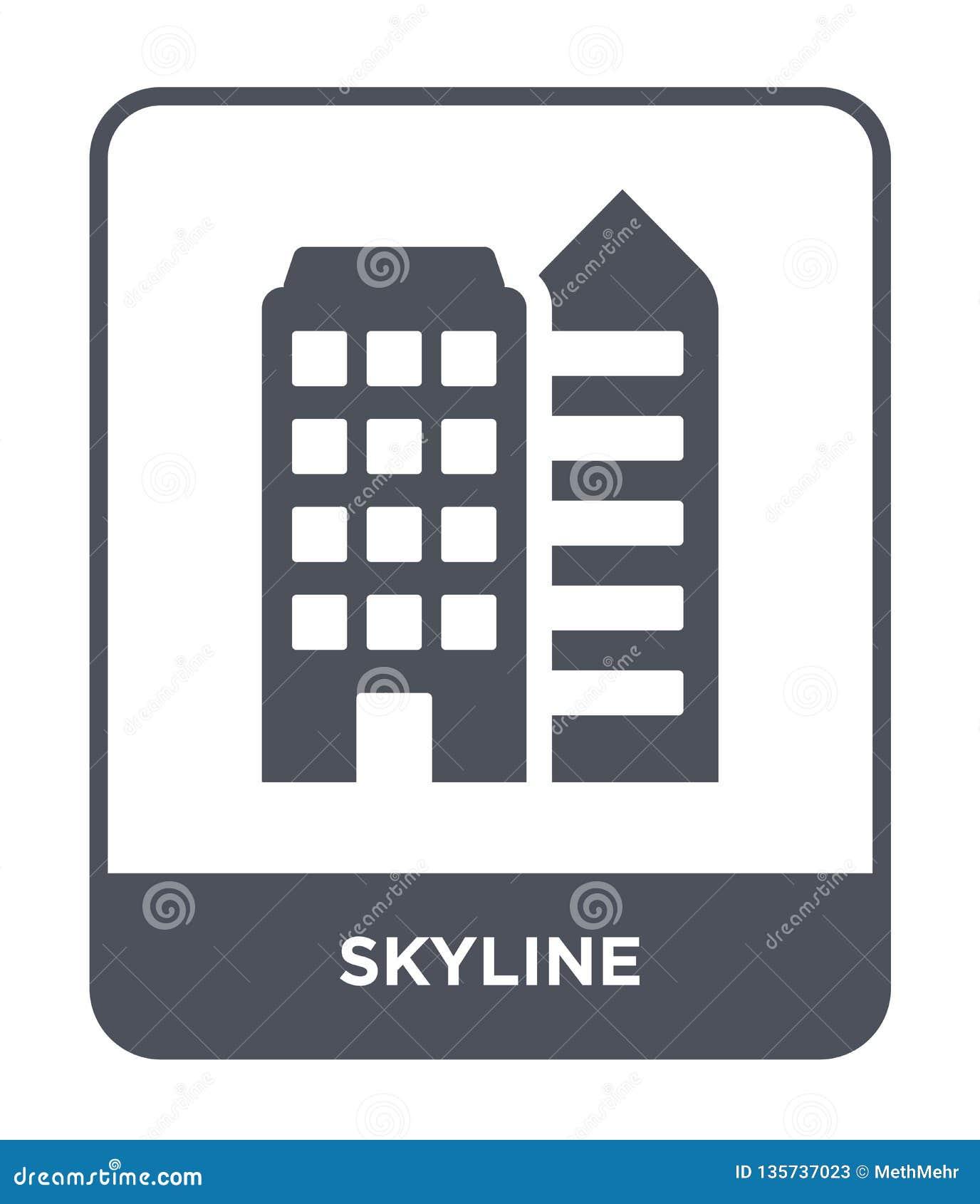 Icona dell orizzonte nello stile d avanguardia di progettazione icona dell orizzonte isolata su fondo bianco simbolo piano sempli