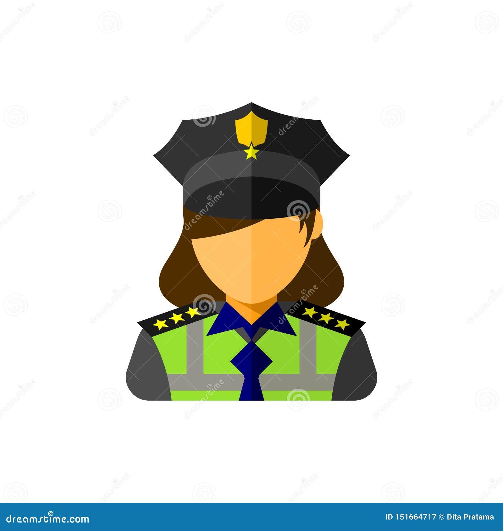 Icona dell ufficiale della donna della polizia
