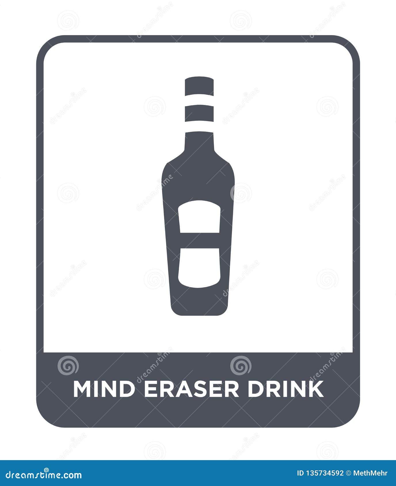 Icona della bevanda della gomma di mente nello stile d avanguardia di progettazione icona della bevanda della gomma di mente isol