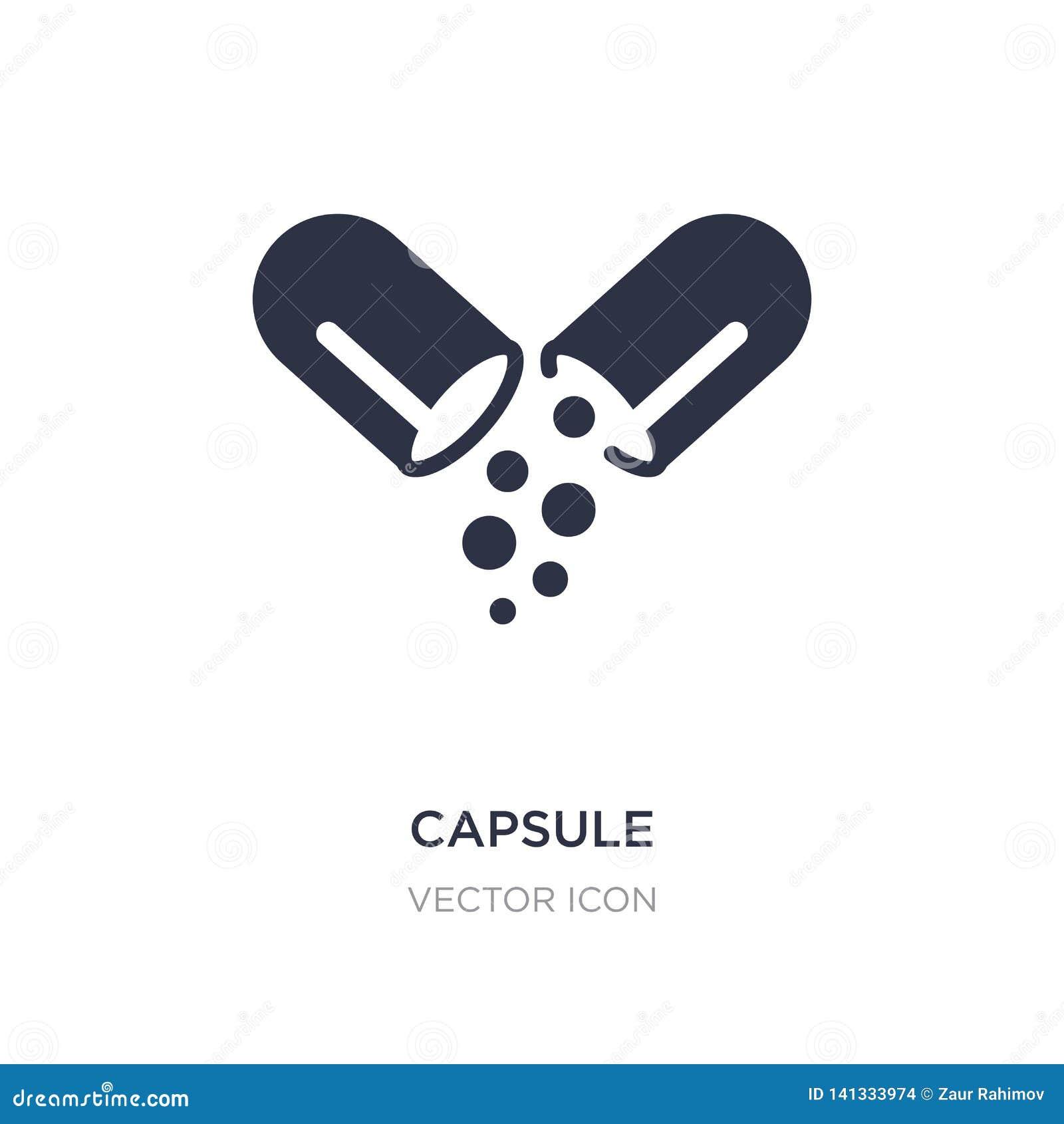 Icona della capsula su fondo bianco Illustrazione semplice dell elemento dal concetto futuro di tecnologia