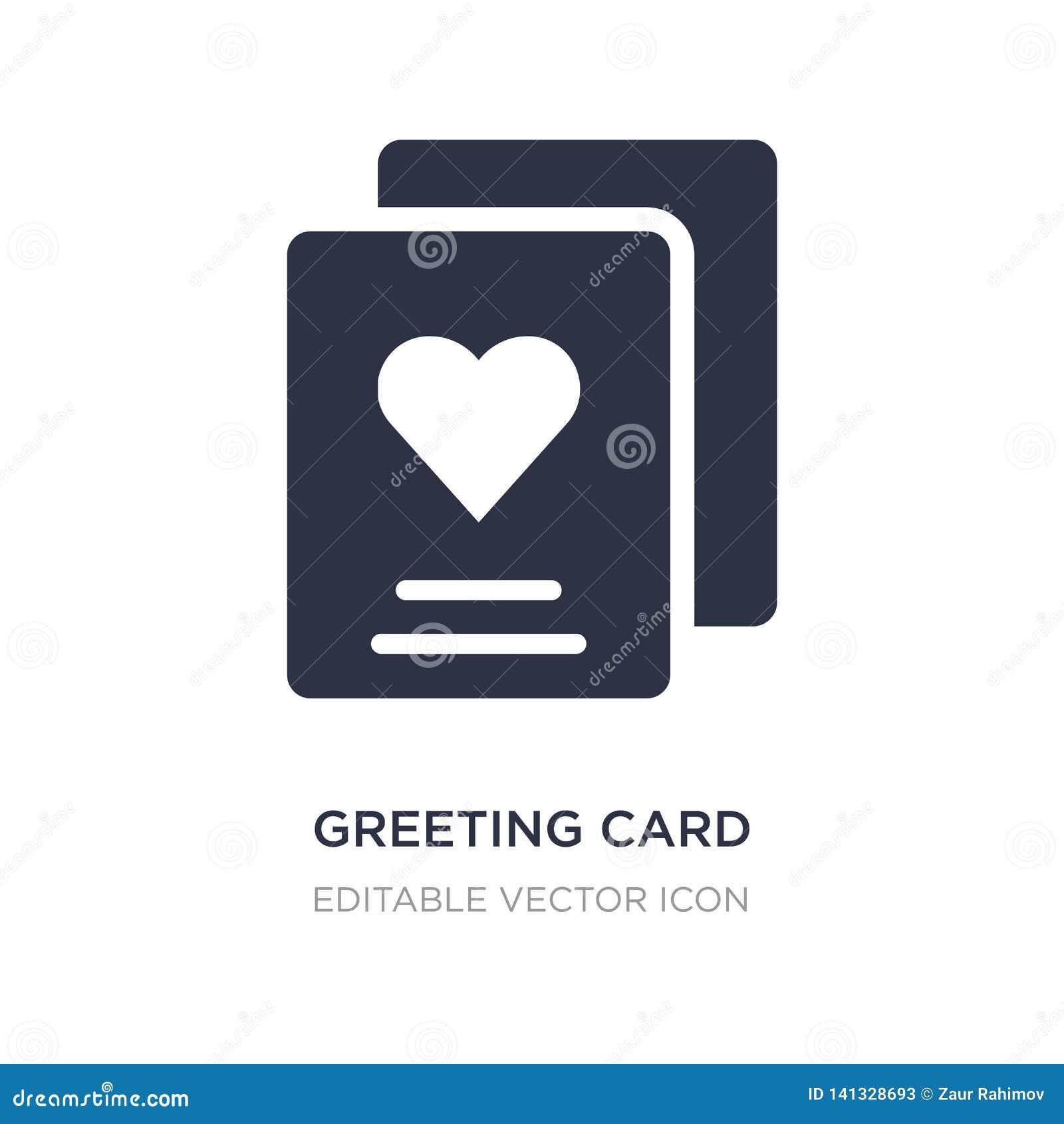 Icona della cartolina d auguri su fondo bianco Illustrazione semplice dell elemento dal compleanno e dal concetto del partito