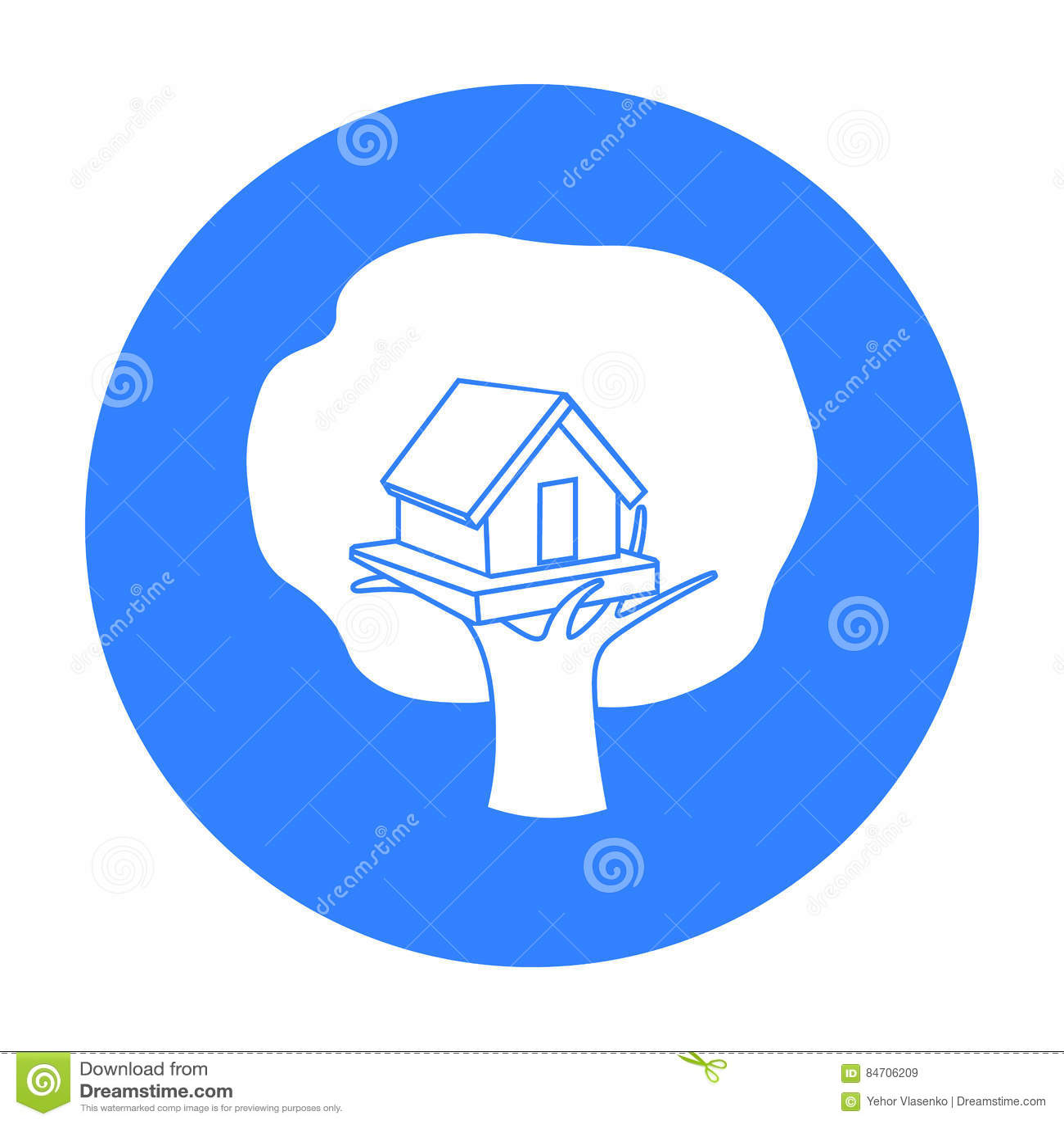 Icona della casa sull 39 albero nello stile nero isolata su for Planimetrie della casa sull albero