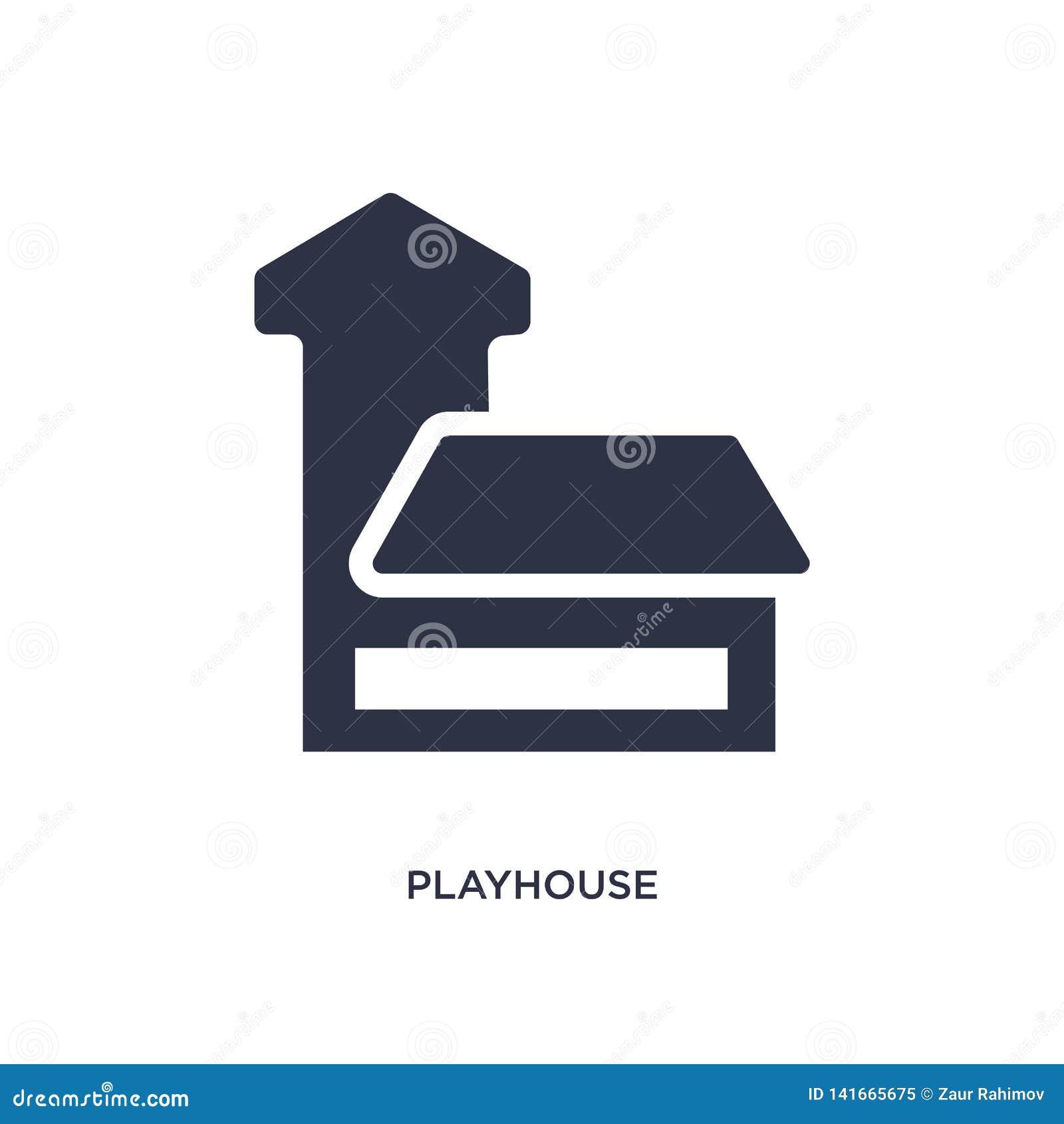 Icona della casetta per giocare su fondo bianco Illustrazione semplice dell elemento dai bambini e dal concetto del bambino