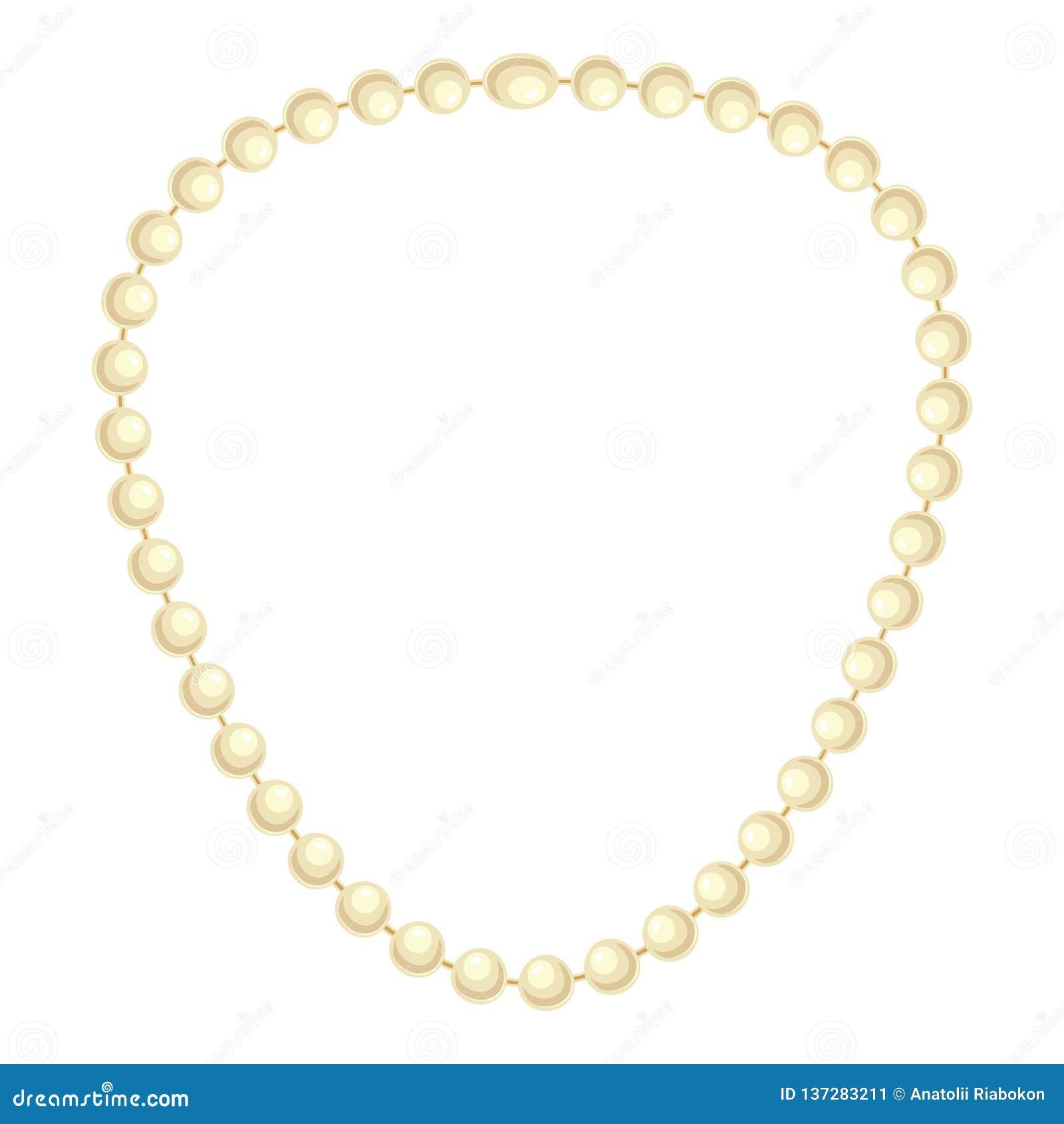 Icona della collana della perla, stile del fumetto