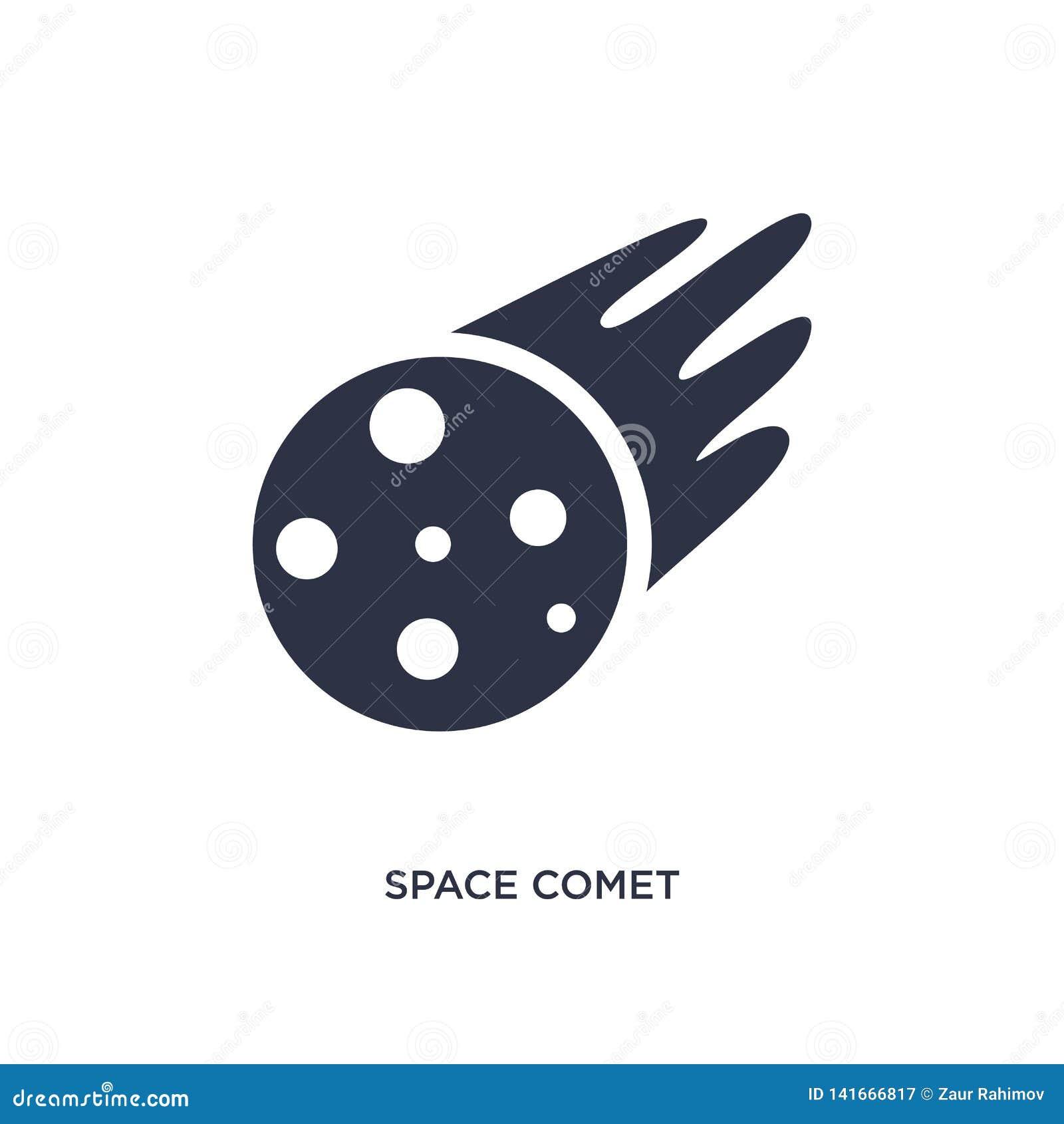 Icona della cometa dello spazio su fondo bianco Illustrazione semplice dell elemento dal concetto di meteorologia