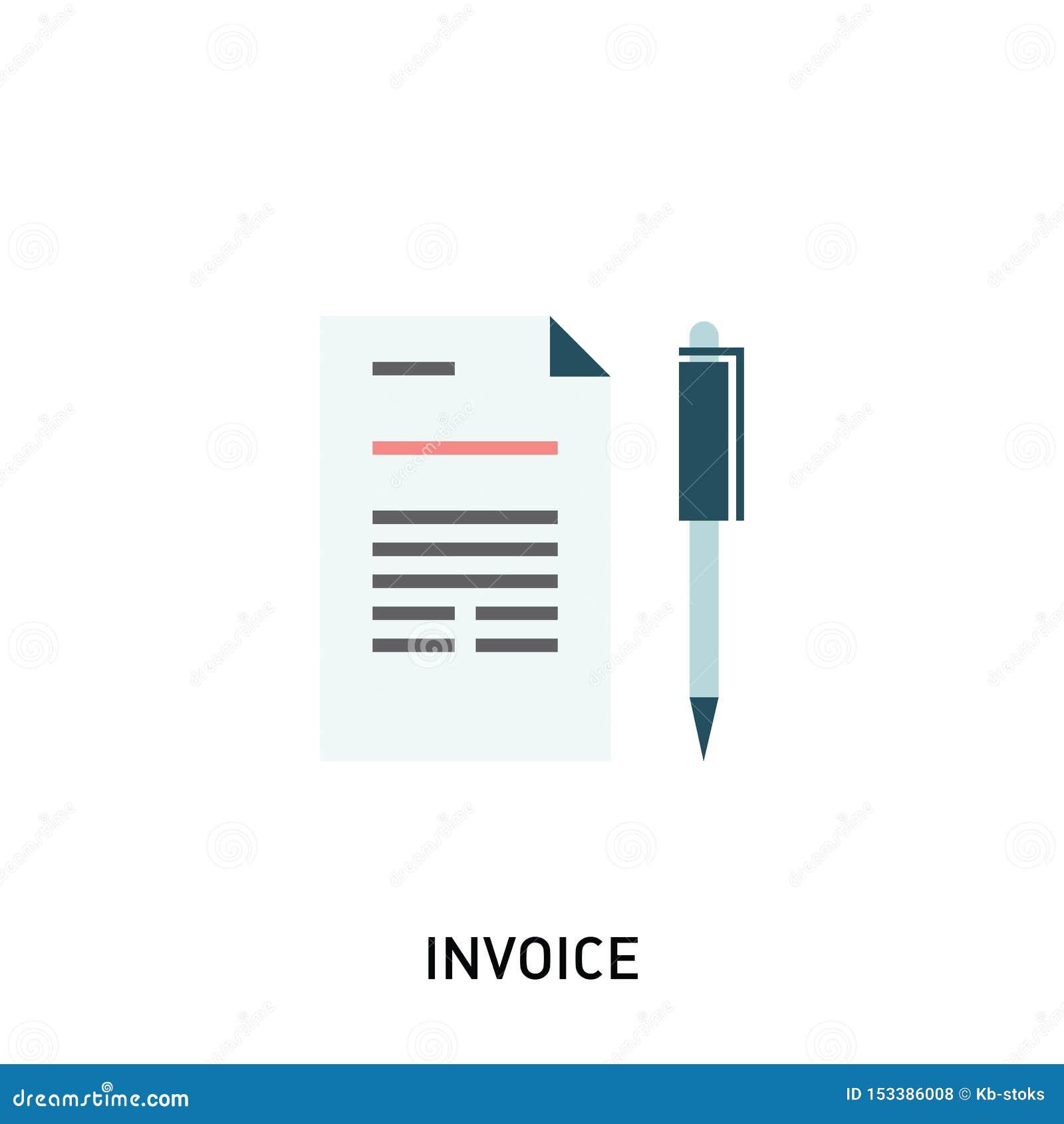 Icona della fattura Le fatture di fatturazione e di pagamento, l affare o le operazioni finanziarie firmano