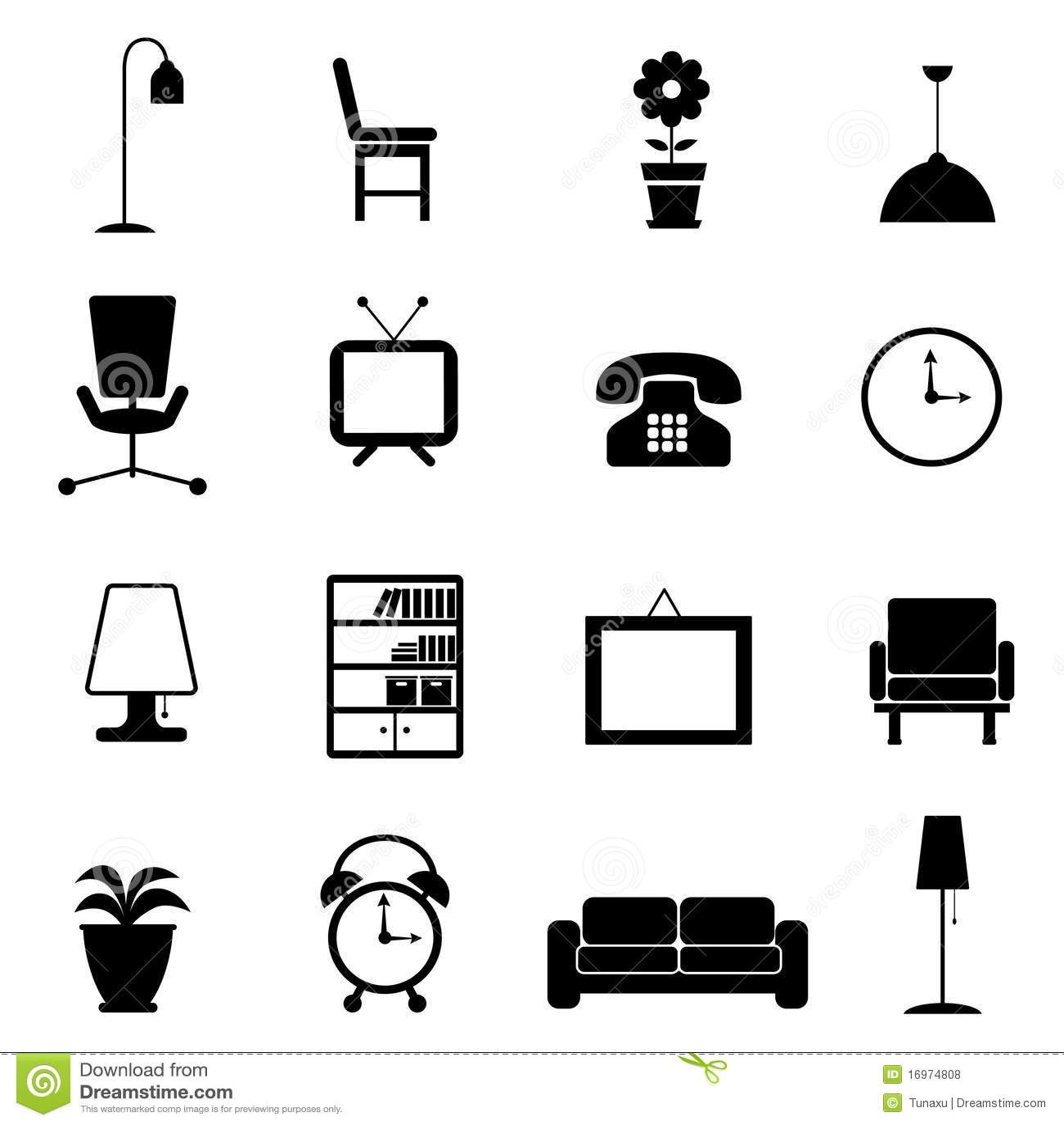 Icona della mobilia illustrazione vettoriale for Mobilia download