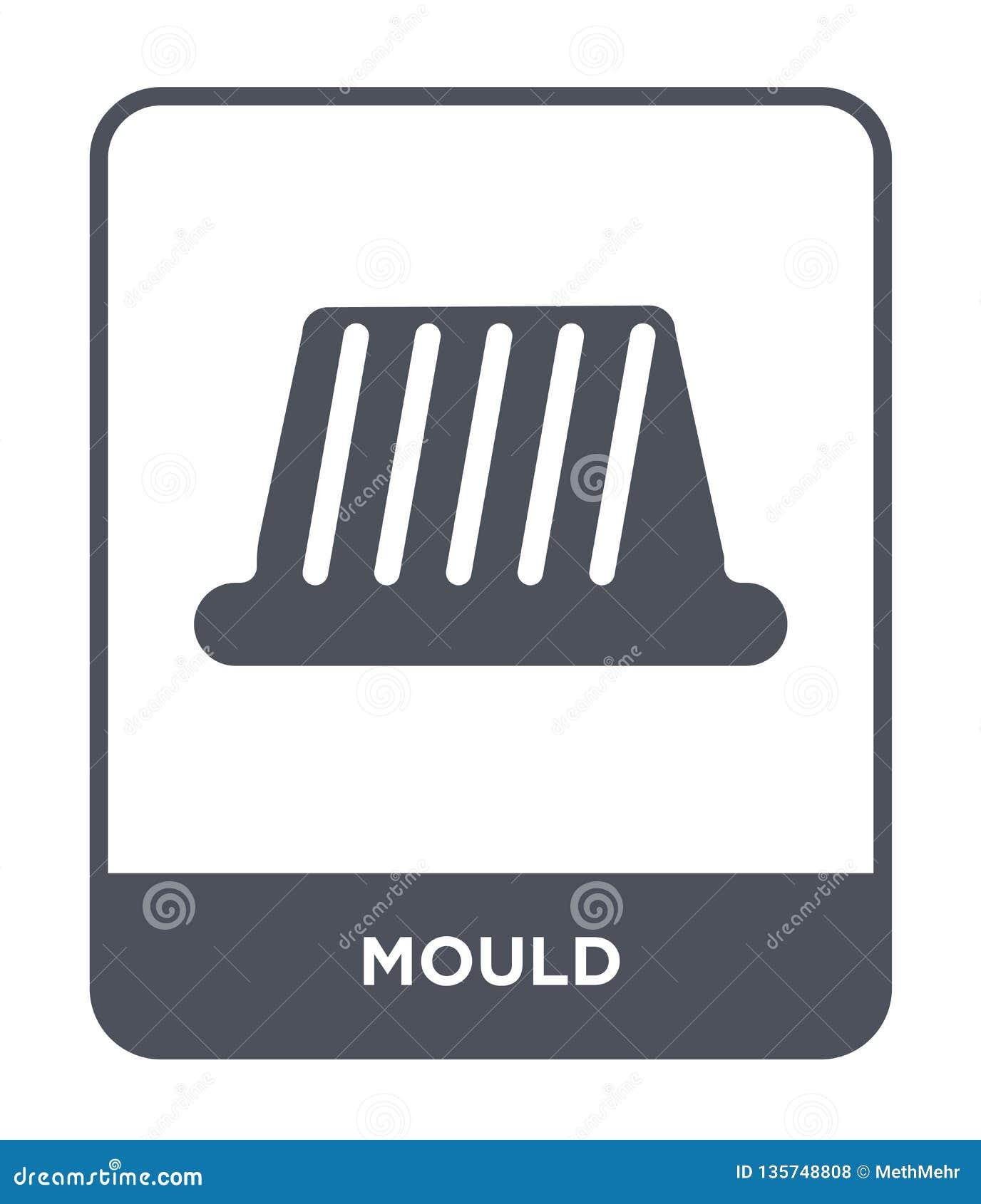 Icona della muffa nello stile d avanguardia di progettazione Icona della muffa isolata su fondo bianco simbolo piano semplice e m