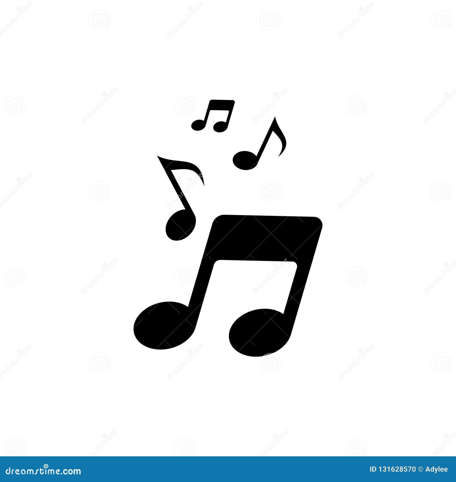 Icona 5 della nota di musica di vettore