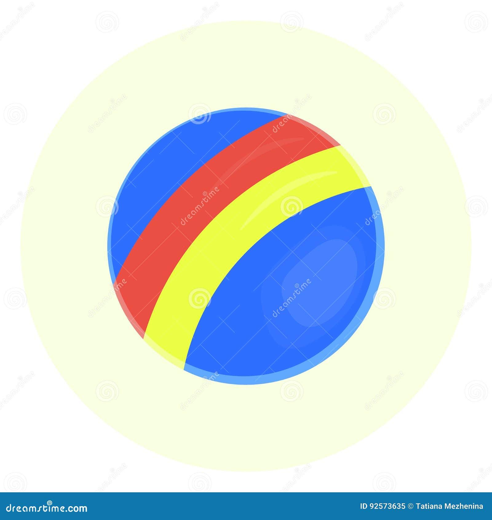 Icona della palla del giocattolo dei bambini