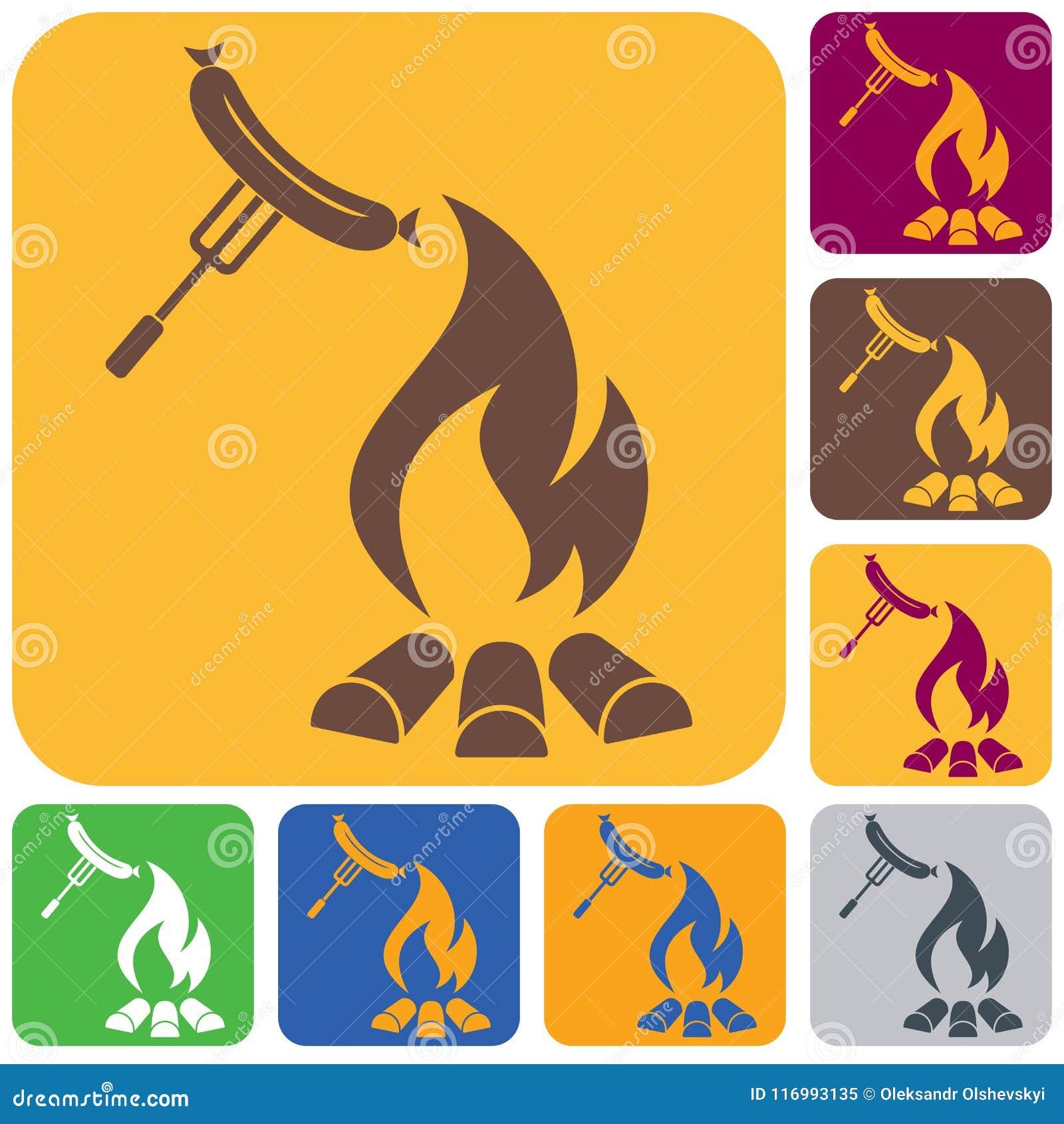 Icona della salsiccia del barbecue