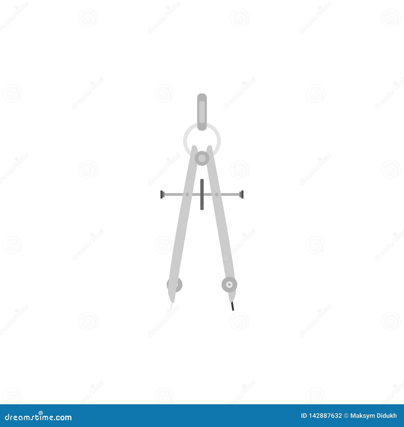 Icona della scuola della bussola Priorità bassa bianca Illustrazione di vettore ENV 10