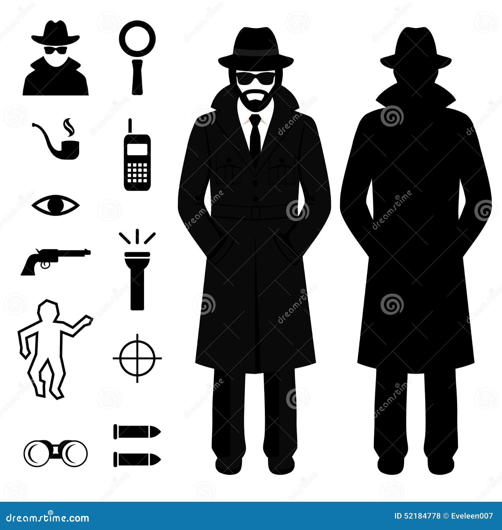 Icona della spia uomo del fumetto dell 39 agente for Planimetrie della caverna dell uomo