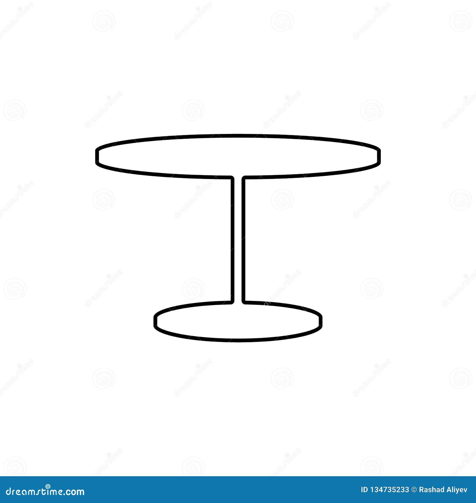 Sito Per Progettare Casa icona della tabella elemento di mobilia per il concetto e l