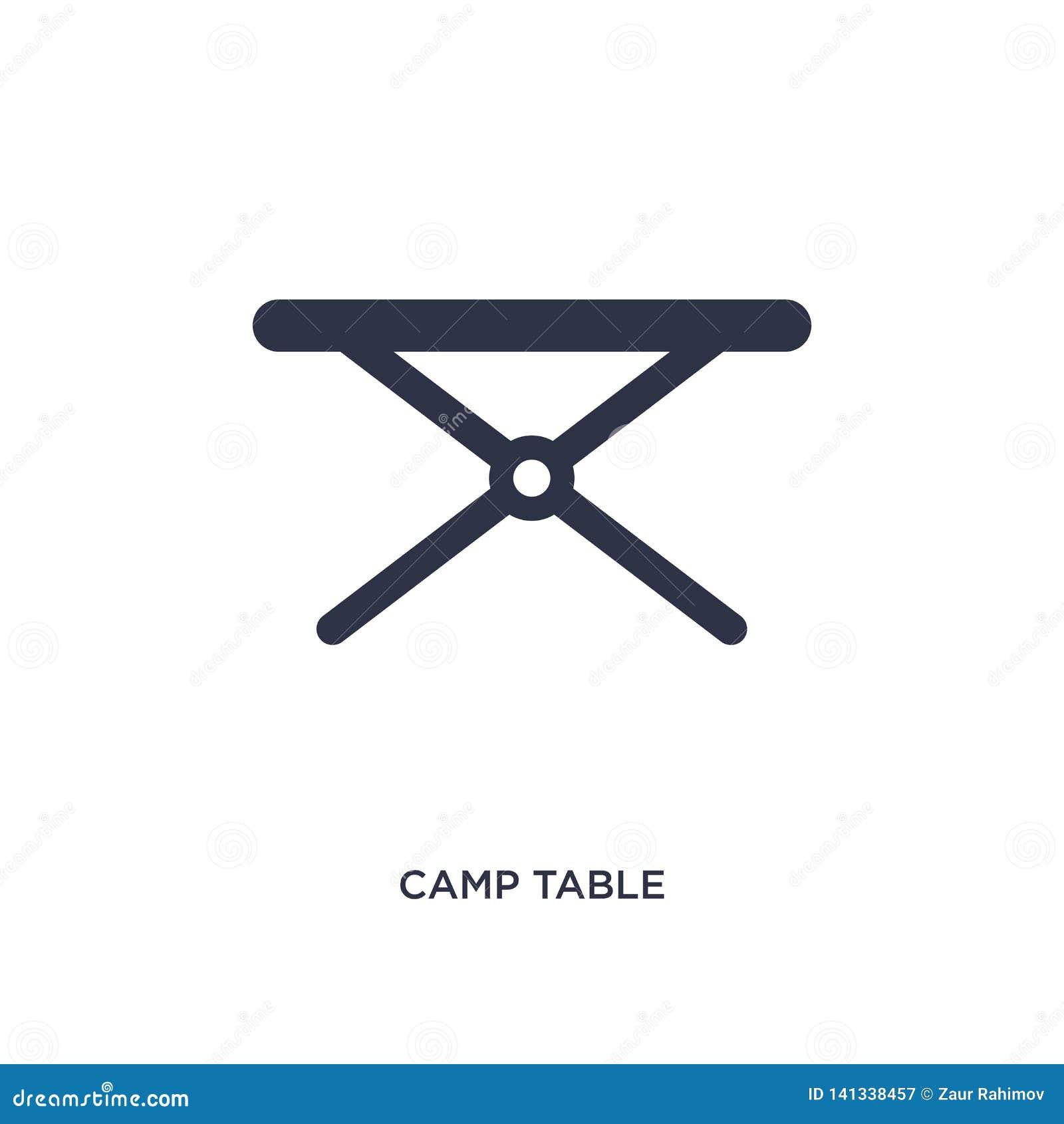 Icona della tavola del campo su fondo bianco Illustrazione semplice dell elemento dal concetto di campeggio