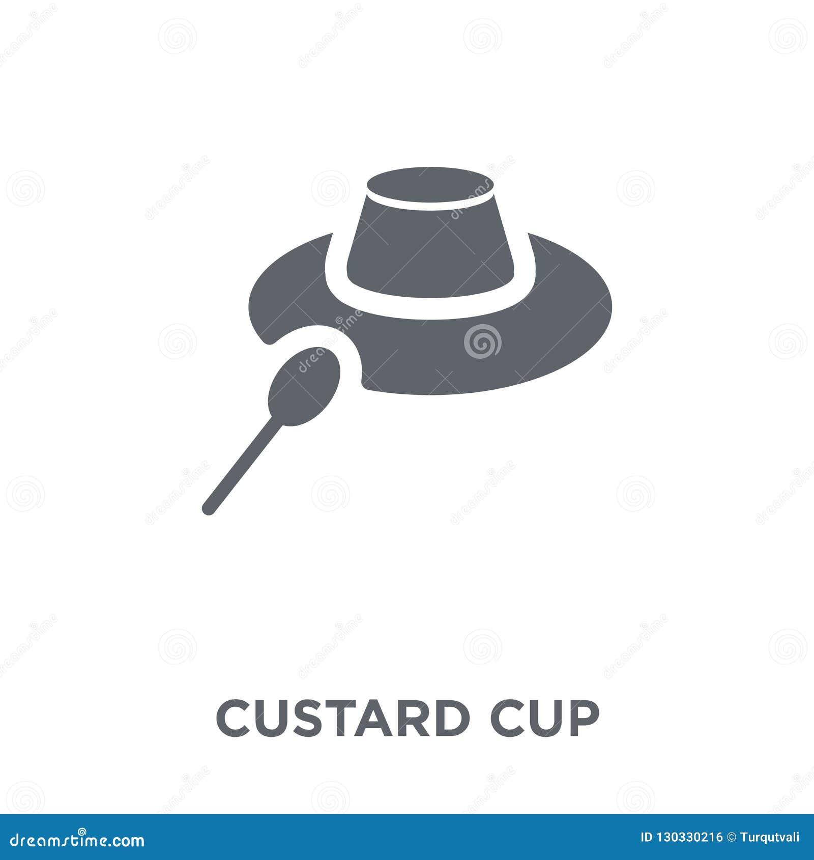 Icona della tazza della crema dalla raccolta della cucina