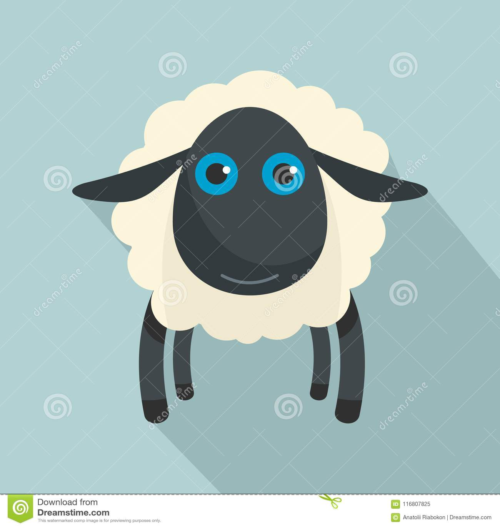Icona delle pecore nere, stile piano