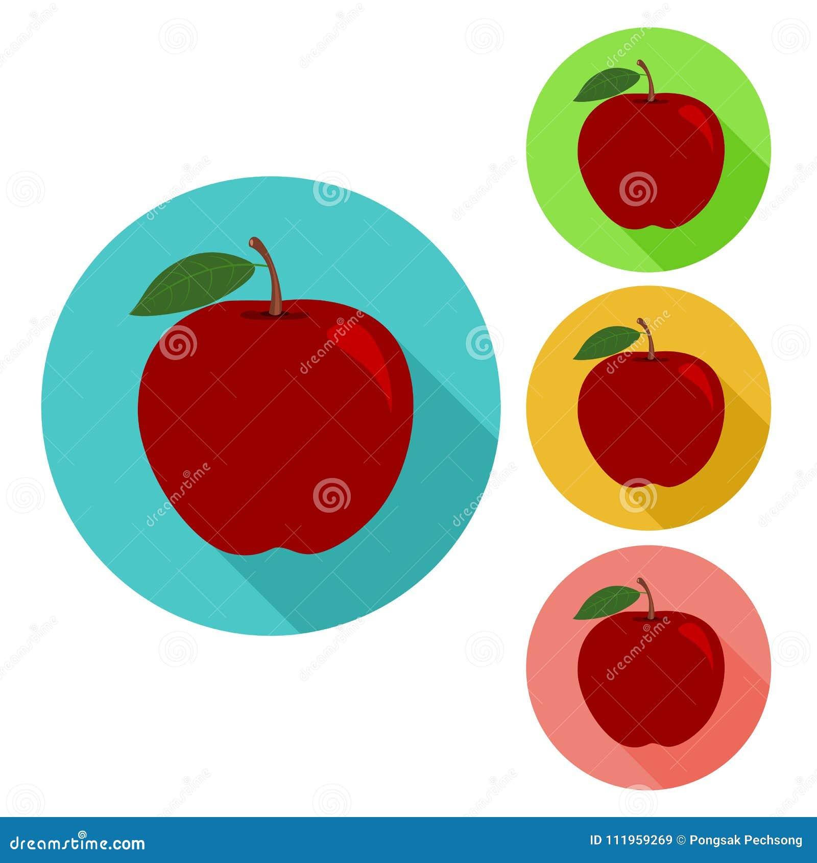 Icona di Apple icona piana della mela