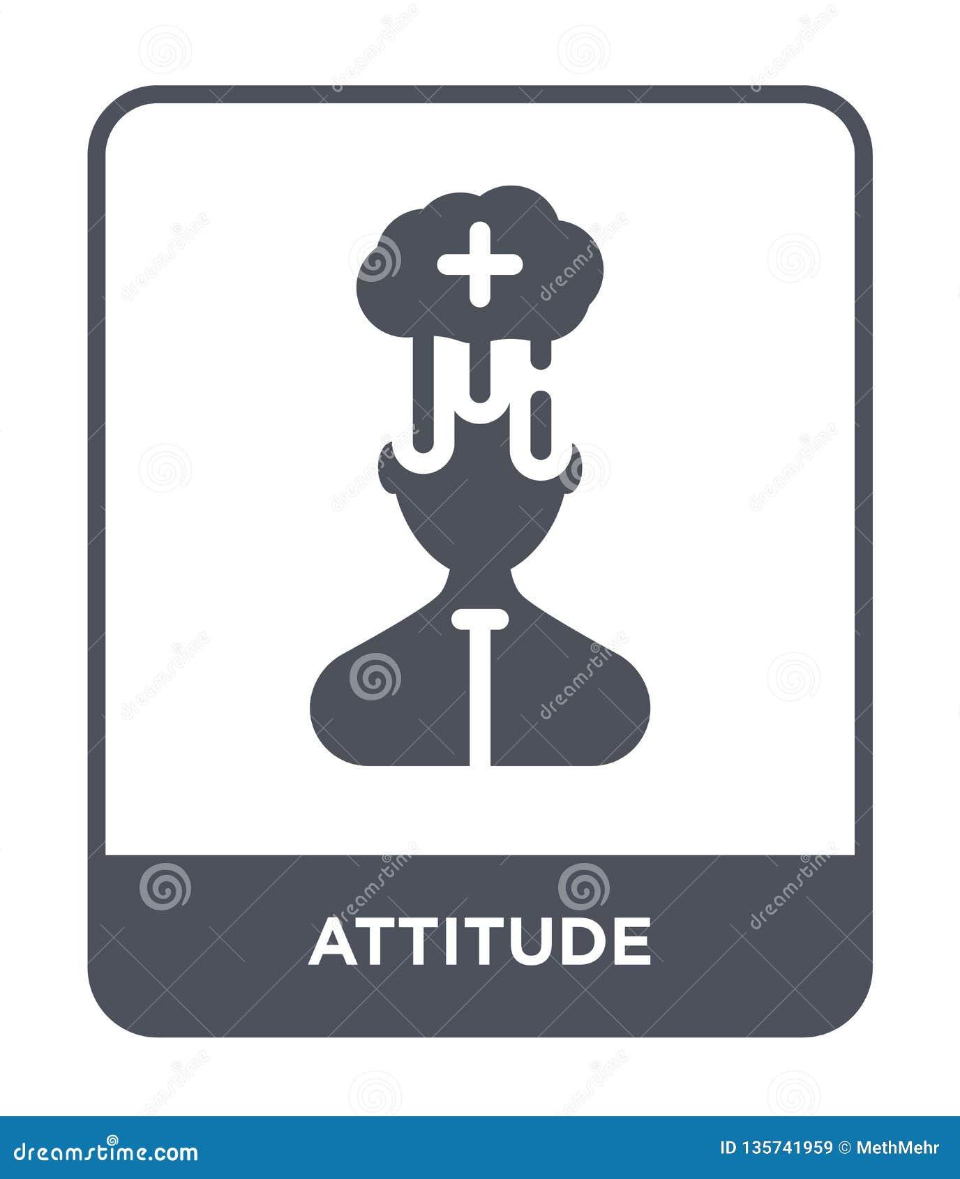 Icona di atteggiamento nello stile d avanguardia di progettazione icona di atteggiamento isolata su fondo bianco piano semplice e