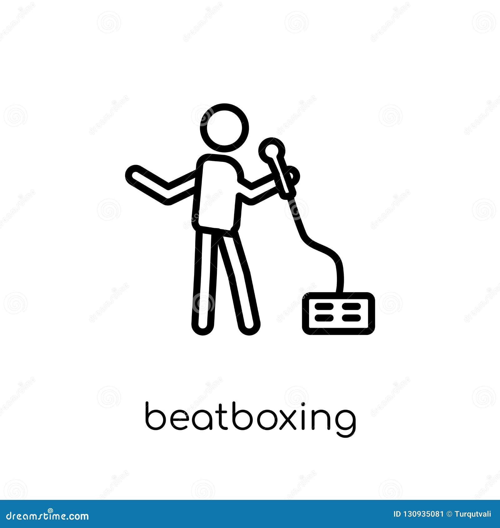 Icona di Beatboxing Ico lineare piano moderno d avanguardia di Beatboxing di vettore