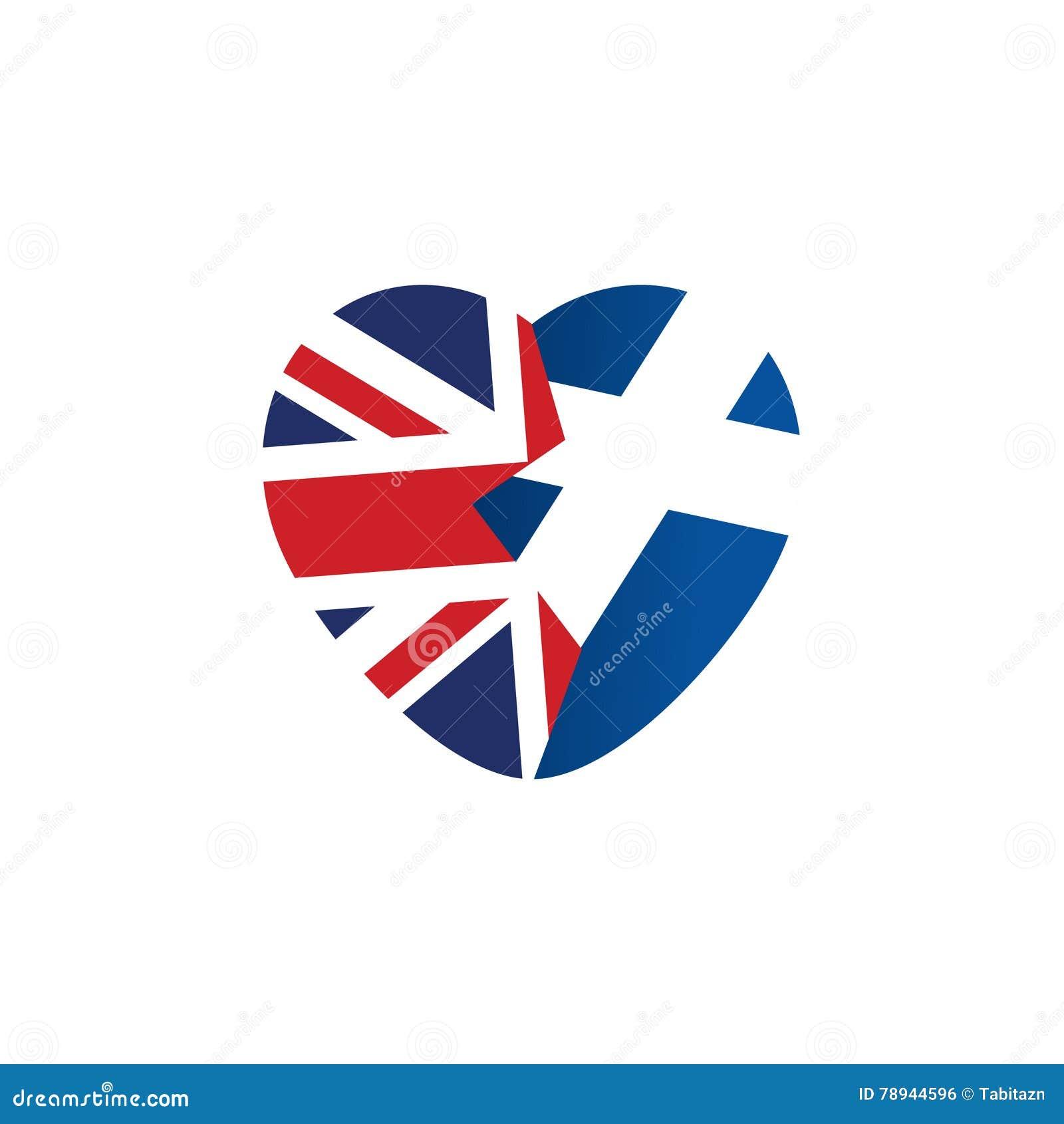 Icona di Brexit Bandierina britannica Bandiera dello Scottish Cuore rotto, simbolo dell uscita imminente della Scozia dalla Gran