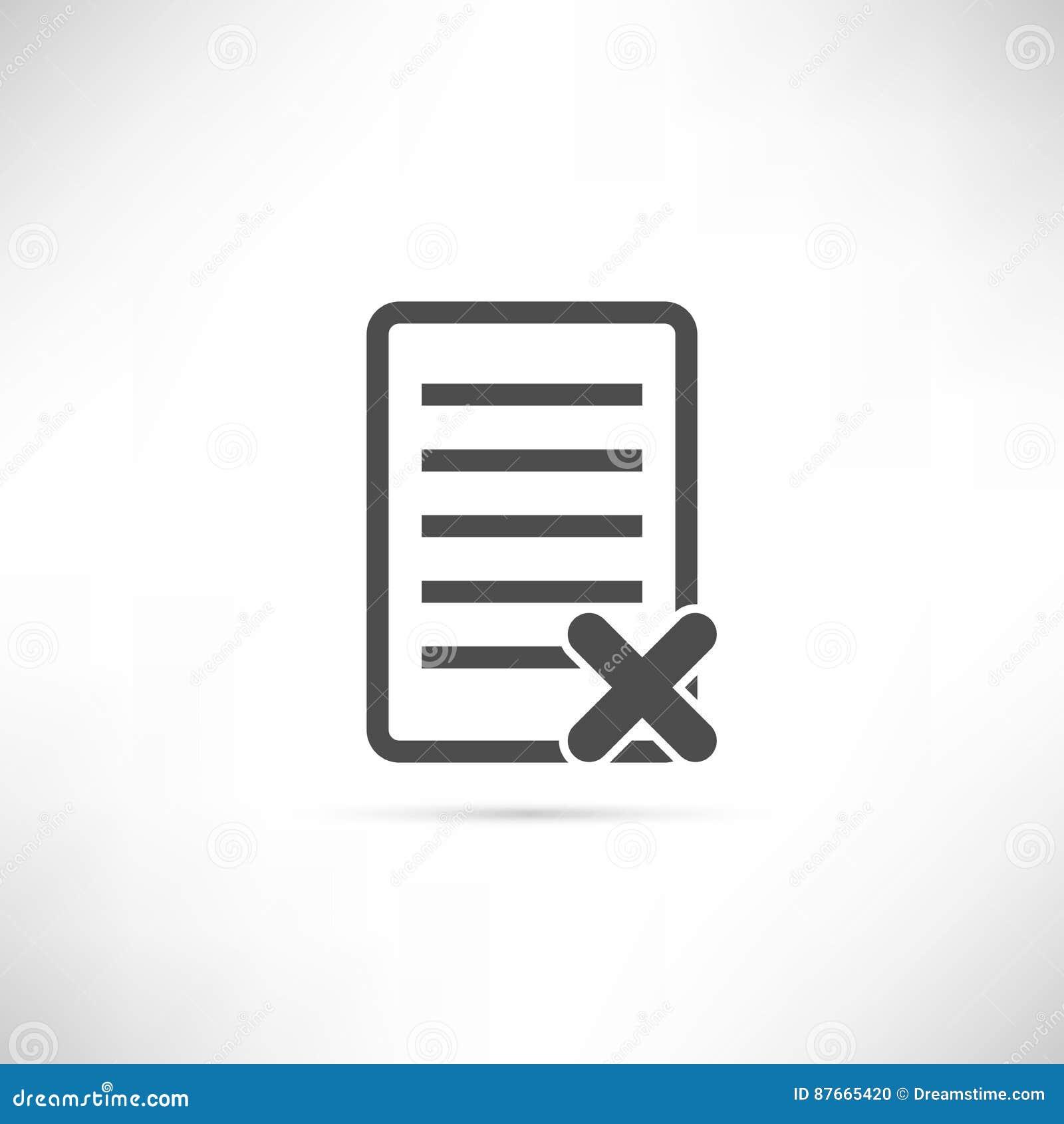 Icona di cancellazione del testo