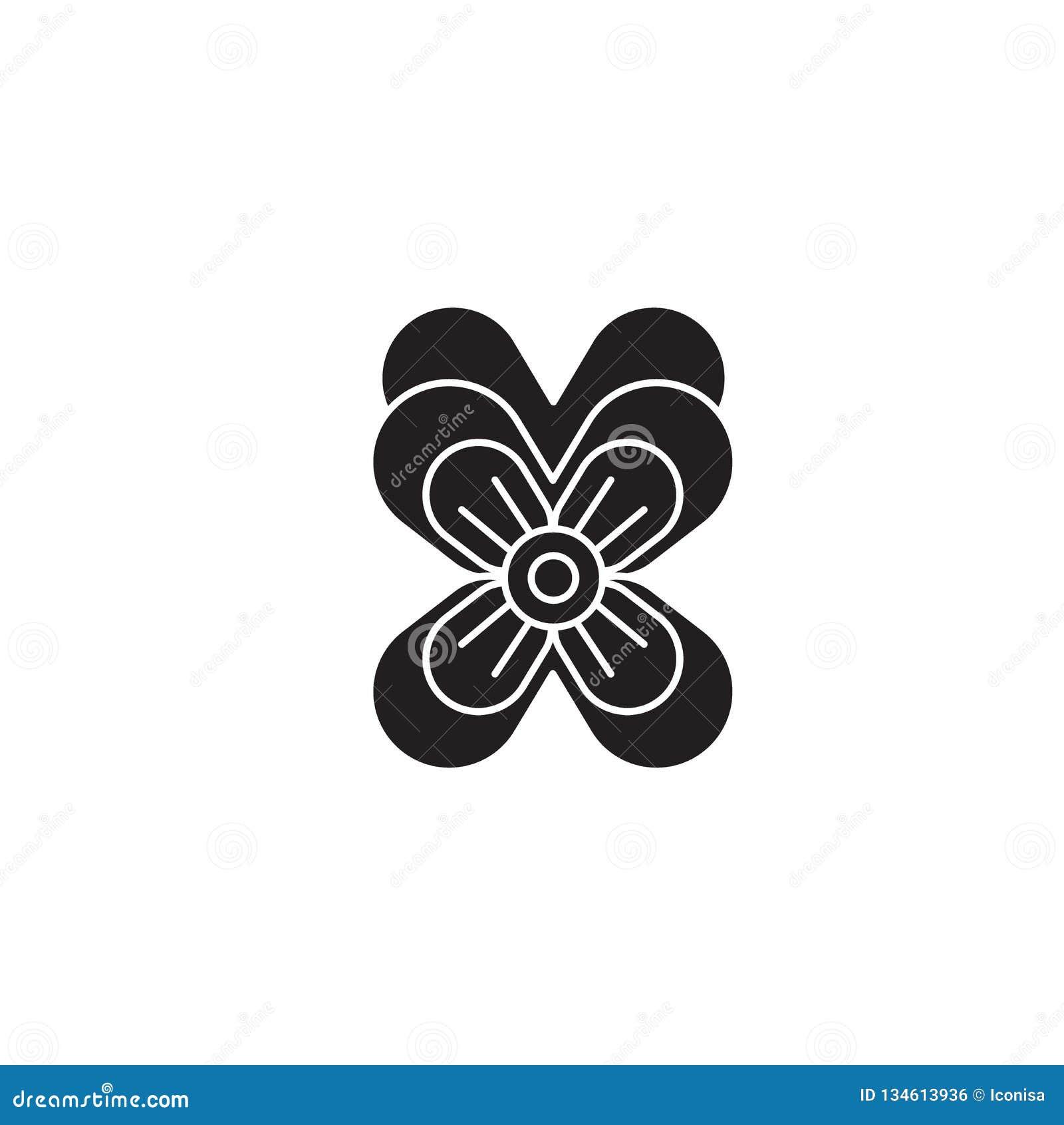 Icona di concetto di vettore del nero della pansé Illustrazione piana della pansé, segno