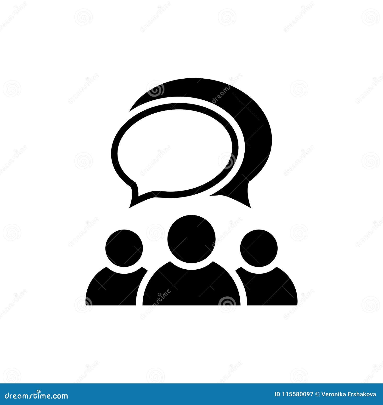 Icona di conversazione della gente Gruppo di persone il simbolo