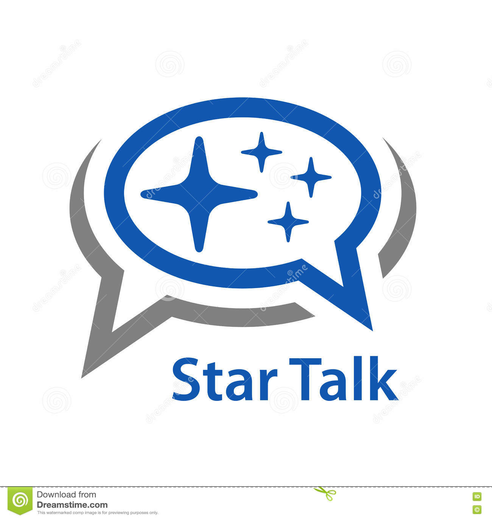 Icona di conversazione della stella del fumetto