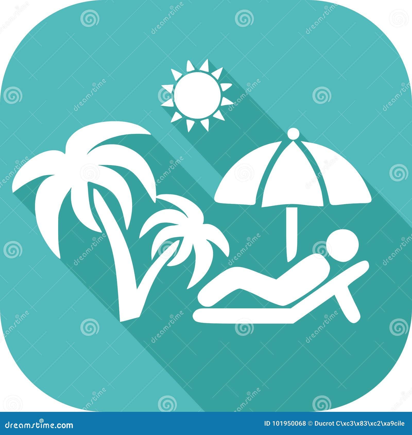 Icona di festa al sole