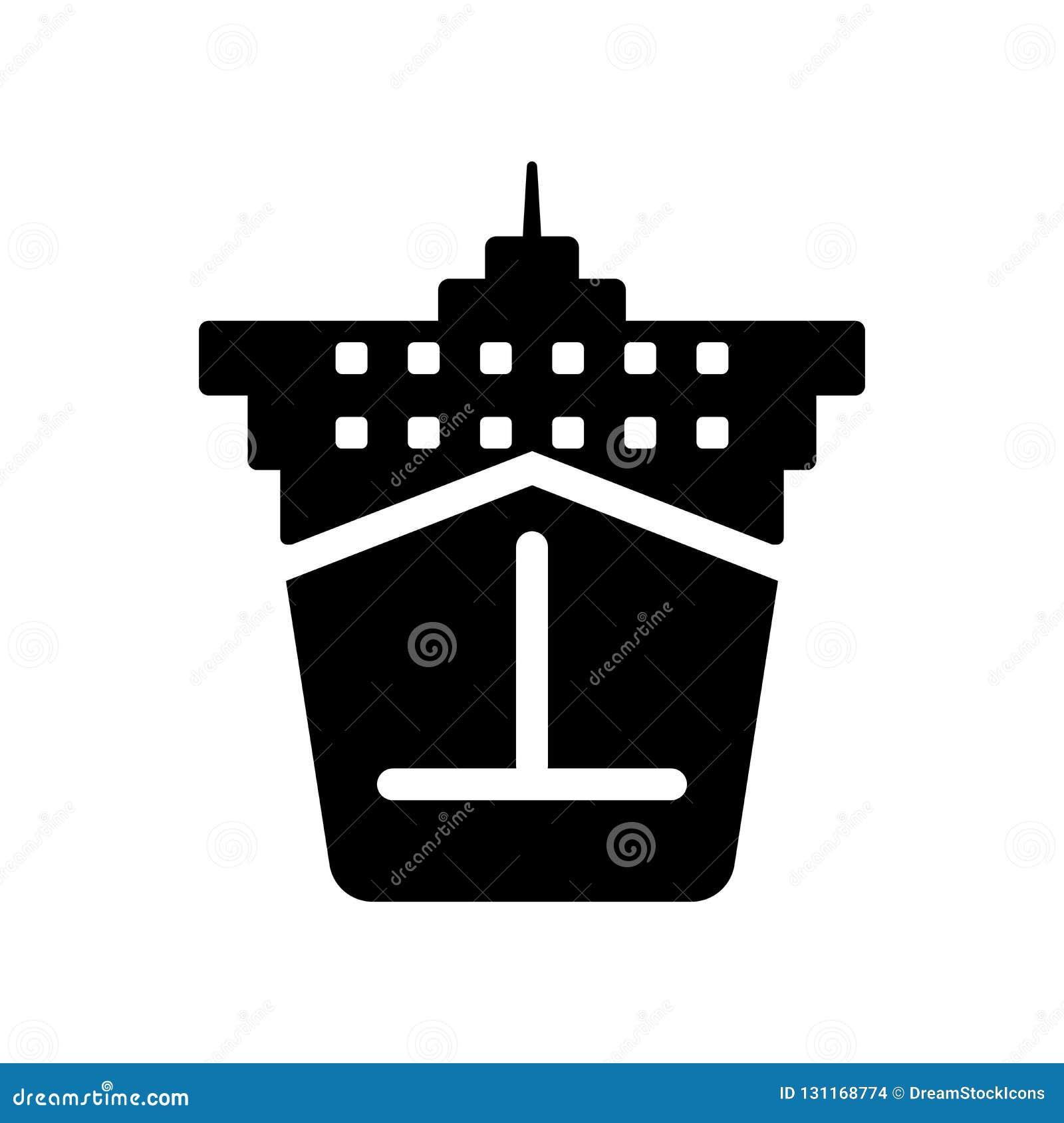 Icona di Front View della nave da carico