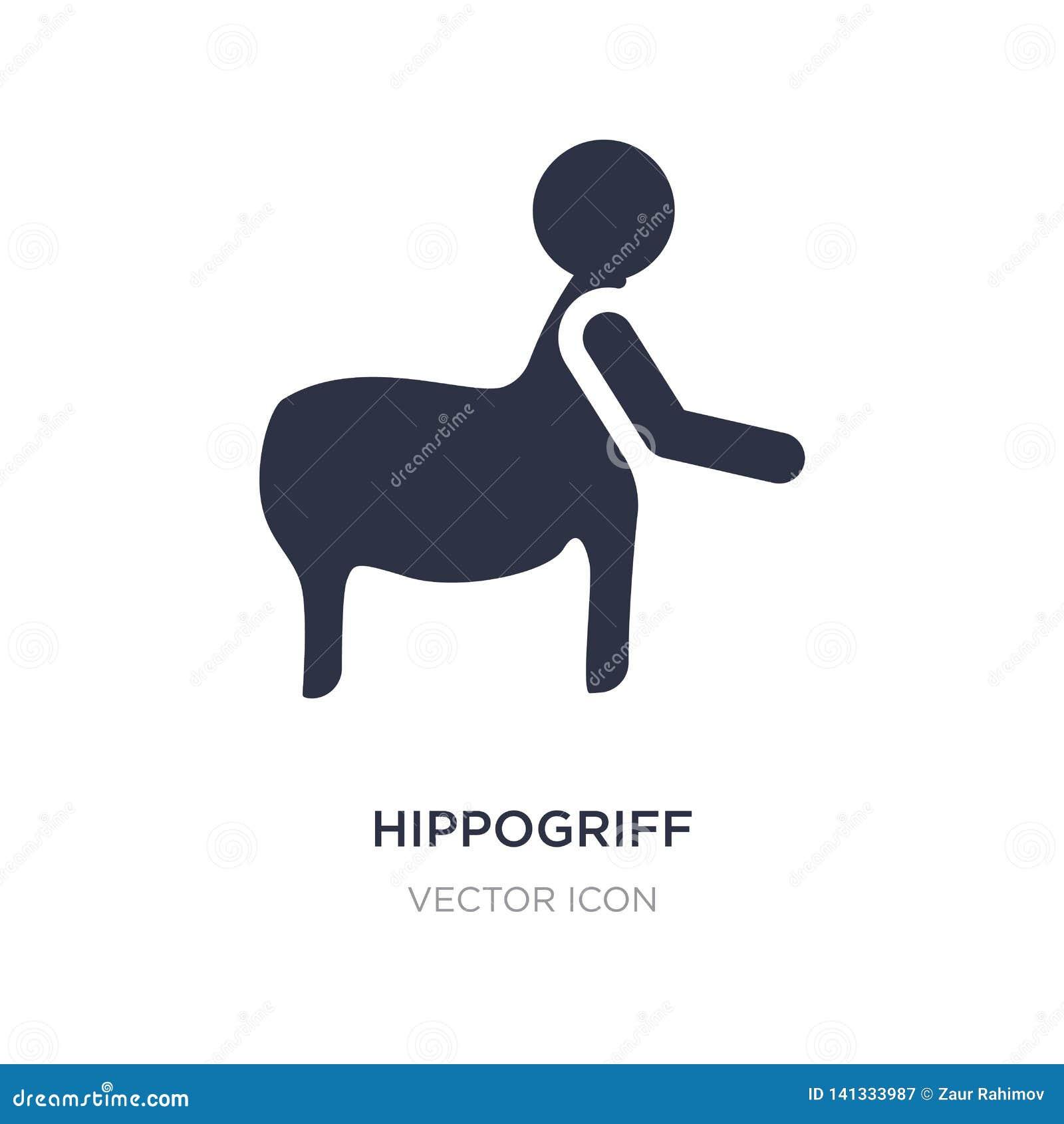 Icona di ippogrifo su fondo bianco Illustrazione semplice dell elemento dal concetto della gente