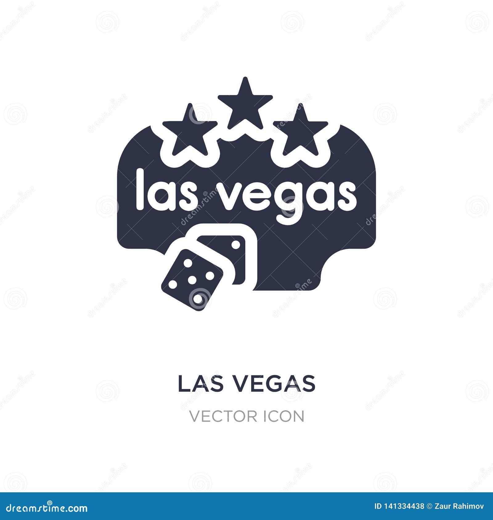 Icona di Las Vegas su fondo bianco Illustrazione semplice dell elemento dal concetto delle bandiere e delle mappe