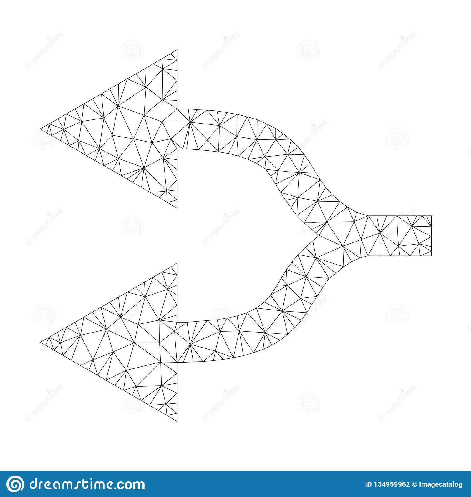 Icona di Mesh Vector Split Arrows Left