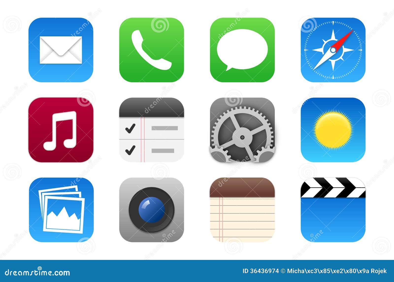 Icona Di Multimedia Messa Per I Telefoni Cellulari Ed I