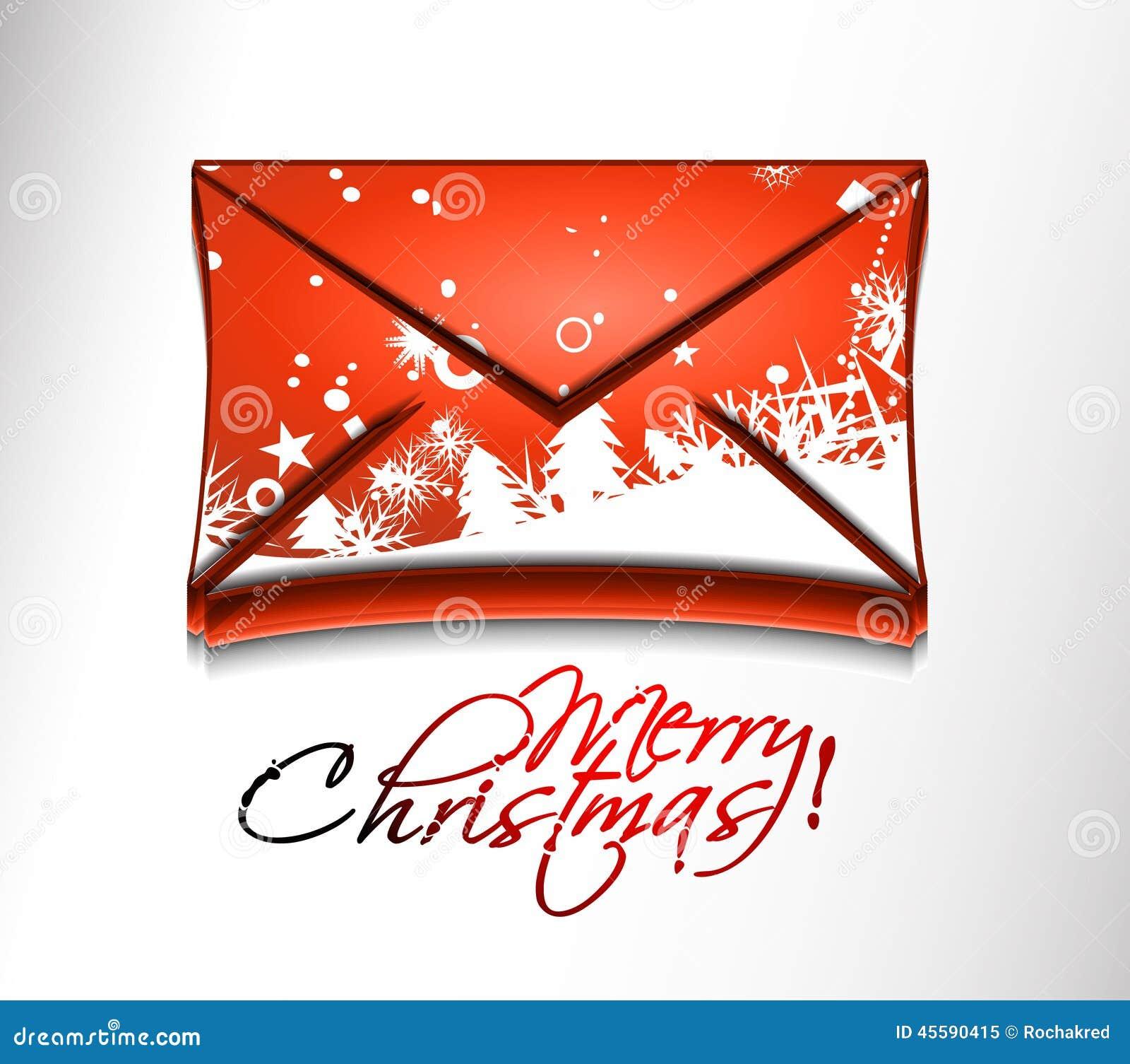 Immagini Natale Email.Icona Di Natale Del Email Illustrazione Di Stock