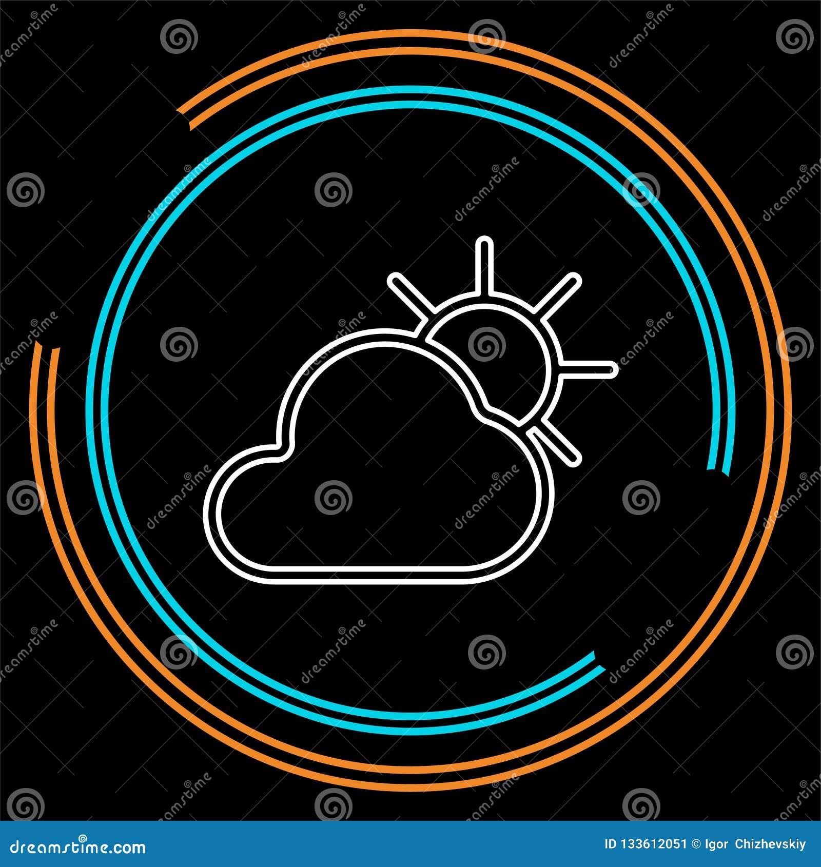 Icona di previsioni del tempo, nuvole di stagioni