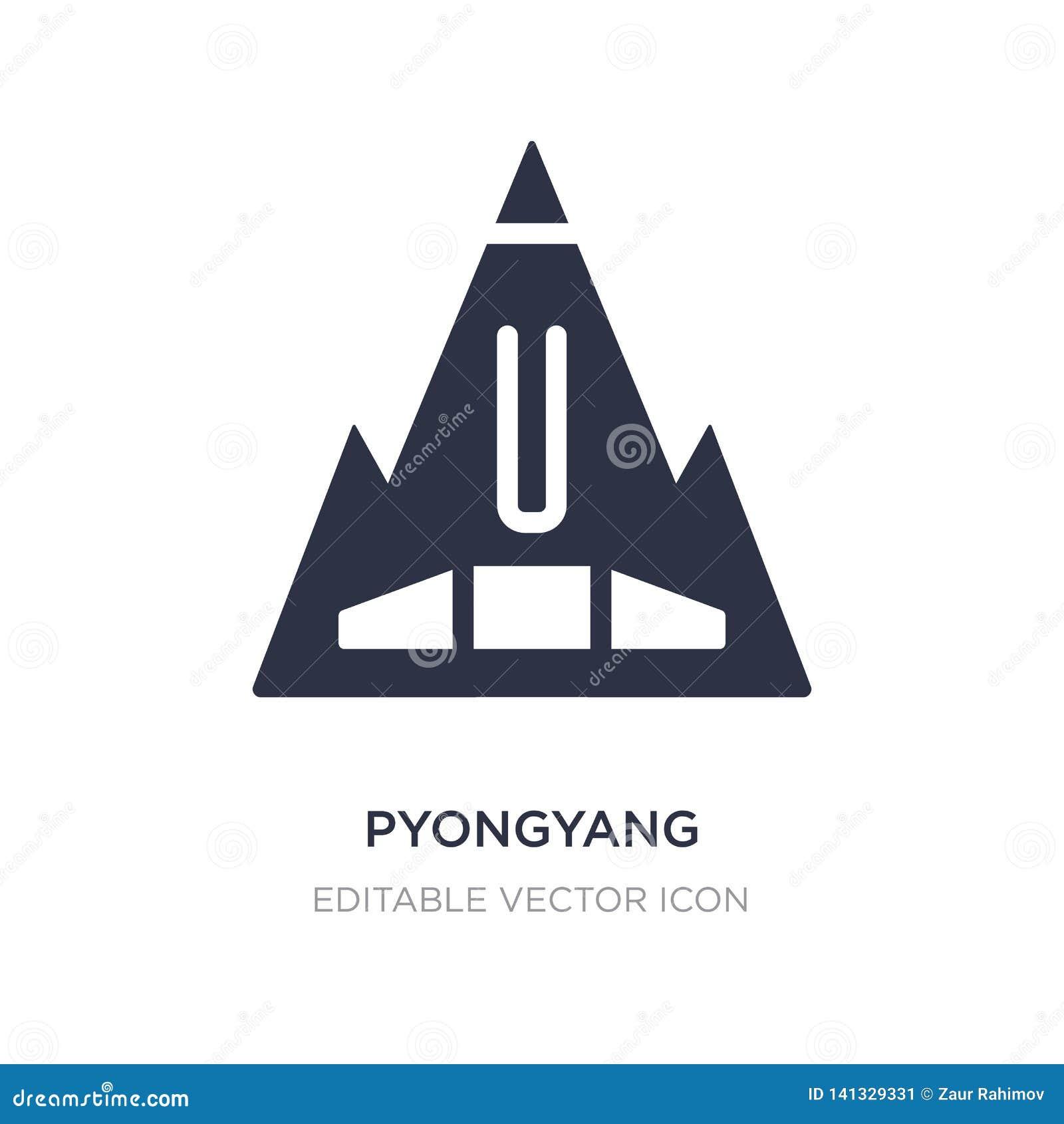 Icona di Pyongyang su fondo bianco Illustrazione semplice dell elemento dal concetto dei monumenti