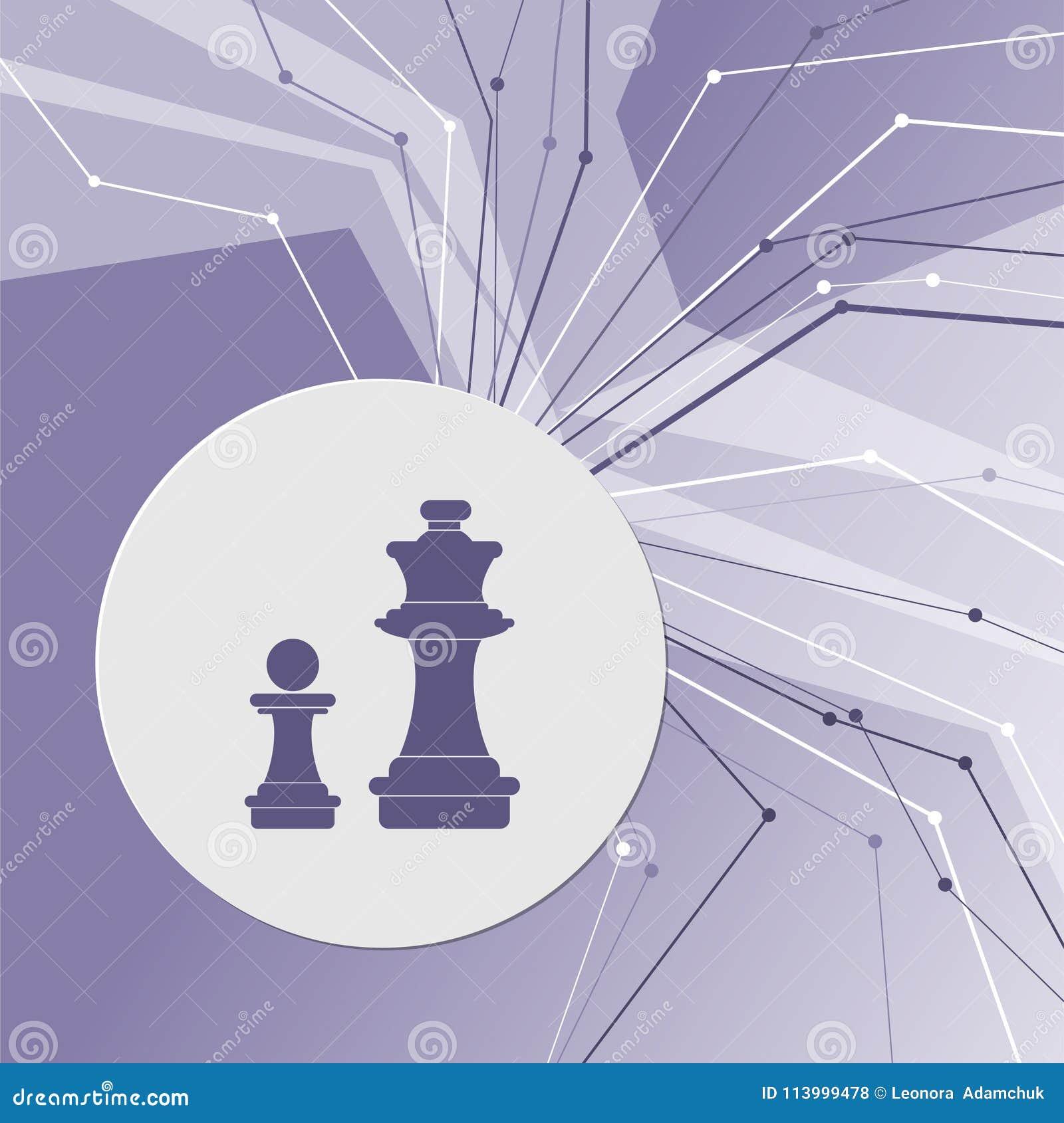 Icona di scacchi su fondo moderno astratto porpora Le linee in tutte le direzioni Con stanza per la vostra pubblicità