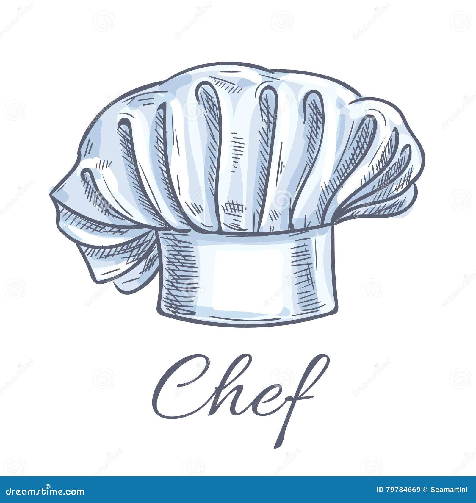 Icona del cappello del cuoco unico Cappello tradizionale del cuoco del  cuoco unico con i popolare Vector l emblema della decorazione del toque di  schizzo di ... 5dea8264e120
